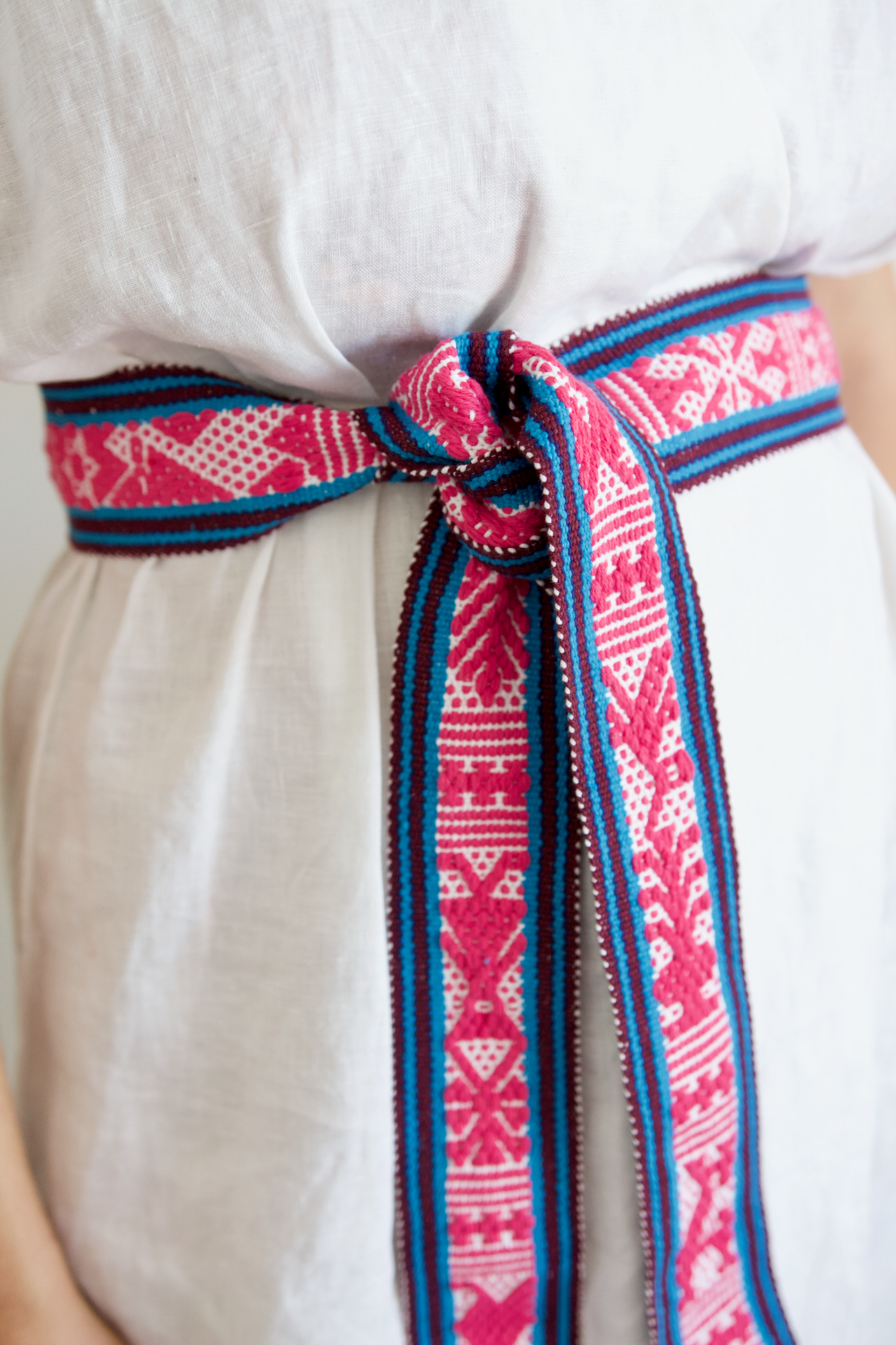 Berta Belt - Blue & Pink