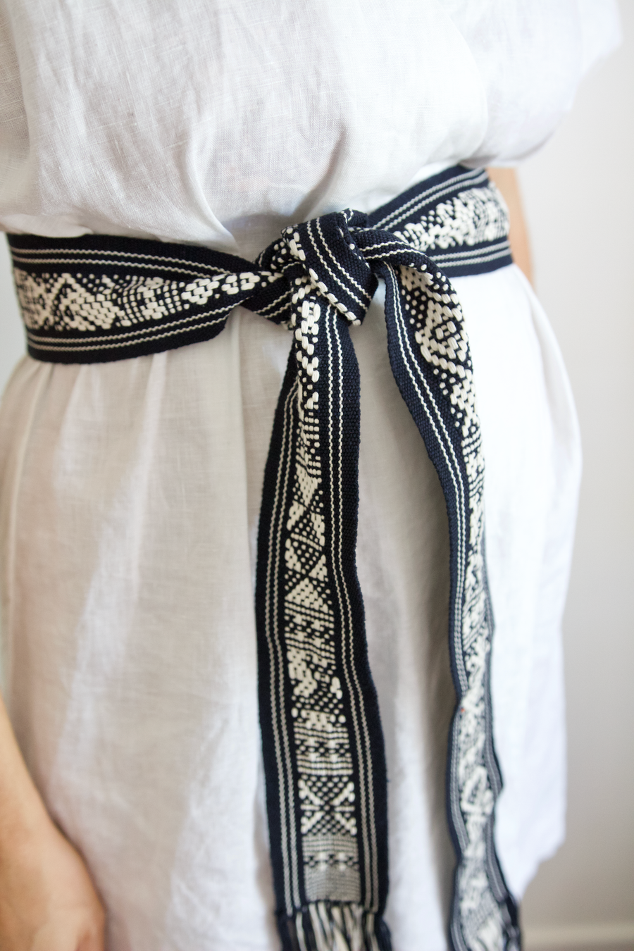 Berta Belt - Navy & White