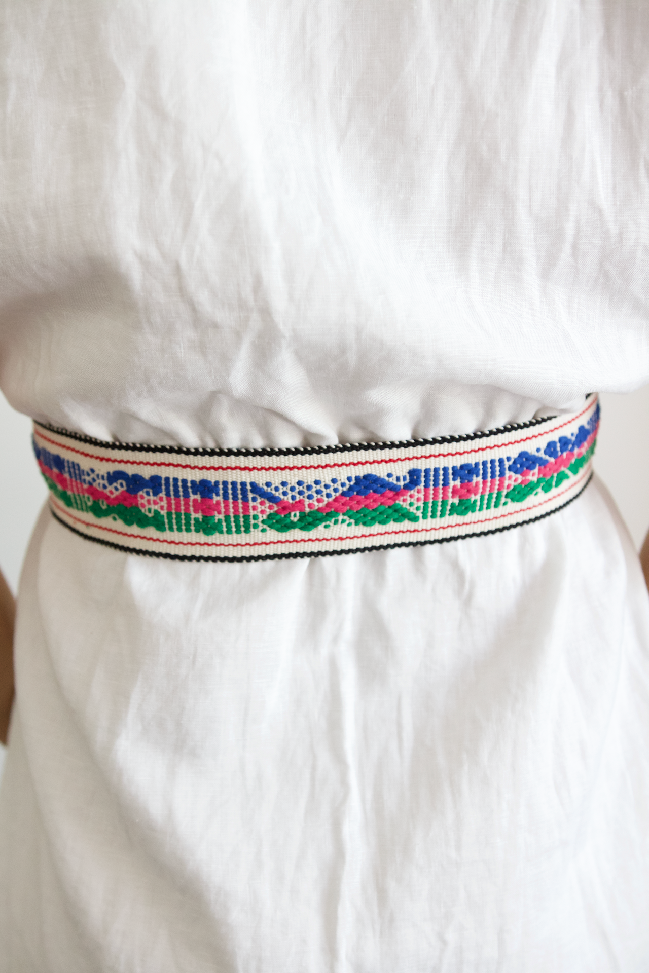 Berta Belt - Green, Blue & Pink