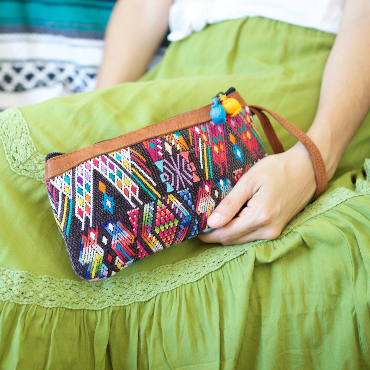 Catarina Clutch 61  Clutch Grey - Cielo Collective handmade Mexico Guatemala