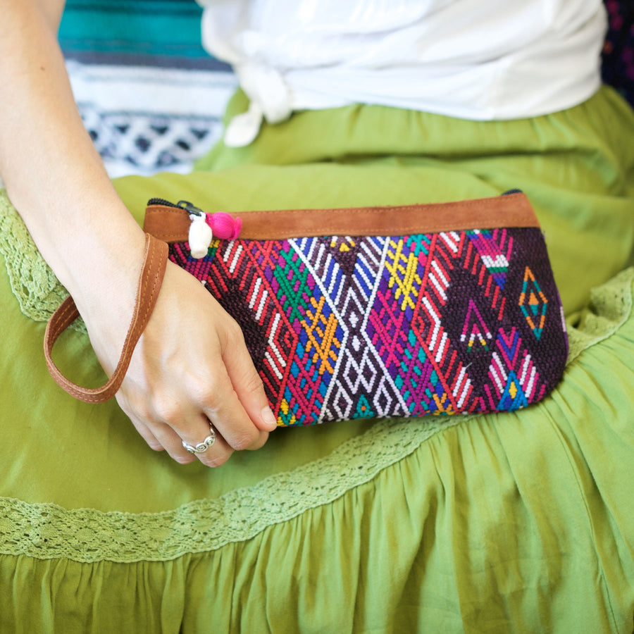 Catarina Clutch 65  Clutch Rainbow - Cielo Collective handmade Mexico Guatemala