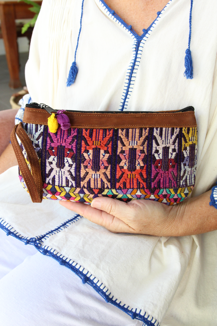 Catarina Clutch 71  Clutch Multicolour - Cielo Collective handmade Mexico Guatemala