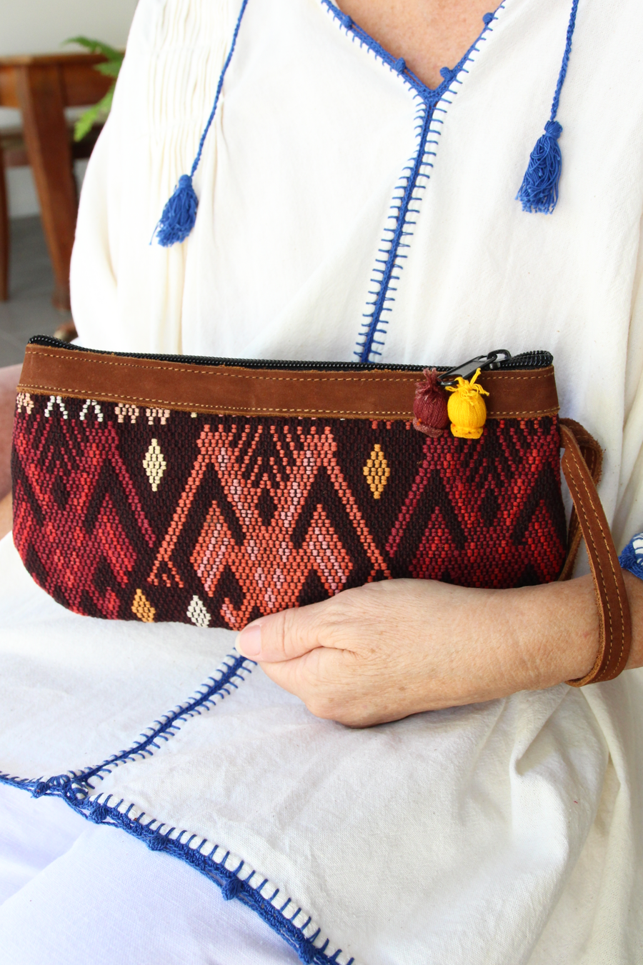 Catarina Clutch 72  Clutch Terracotta - Cielo Collective handmade Mexico Guatemala
