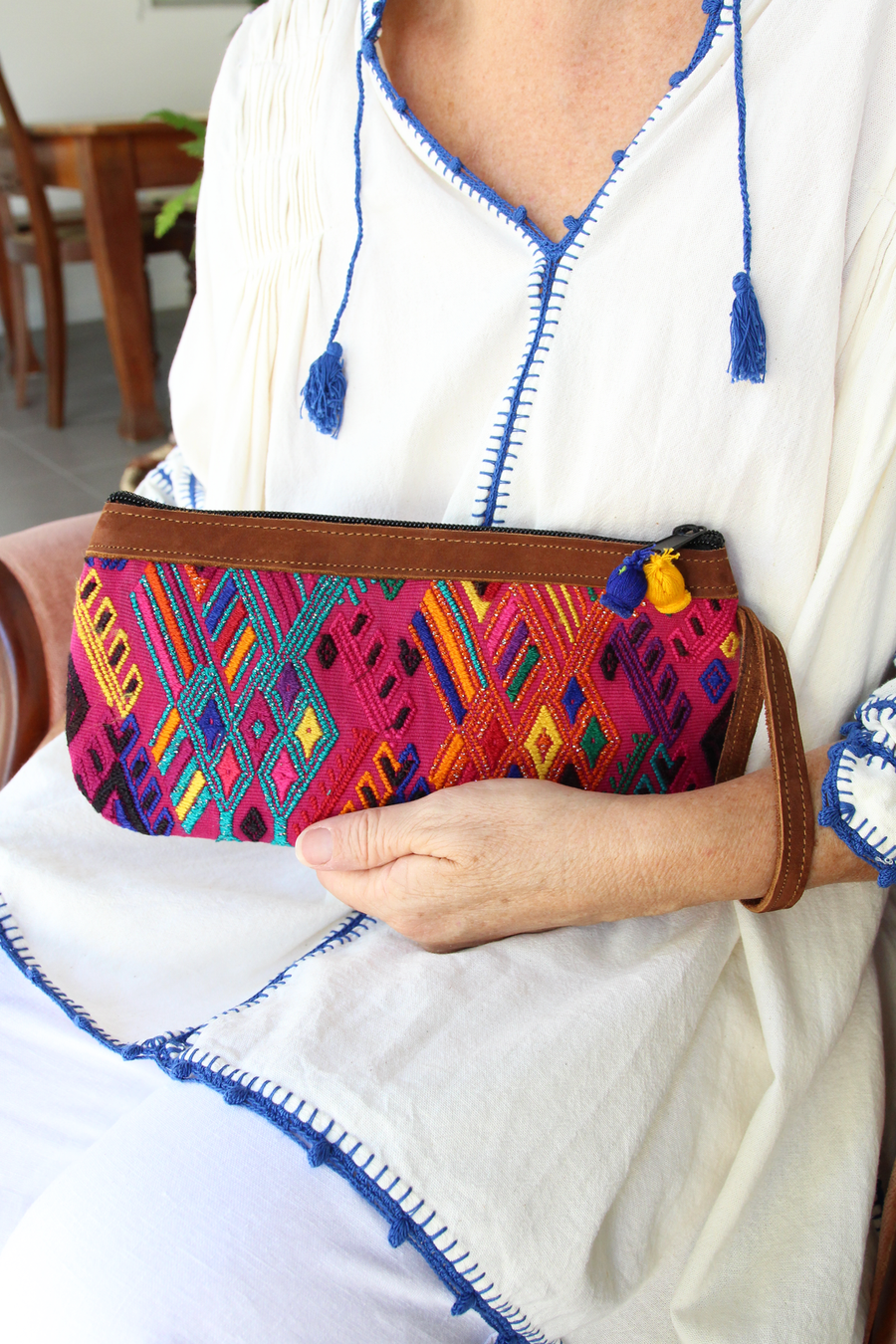 Catarina Clutch 66  Clutch Pink - Cielo Collective handmade Mexico Guatemala