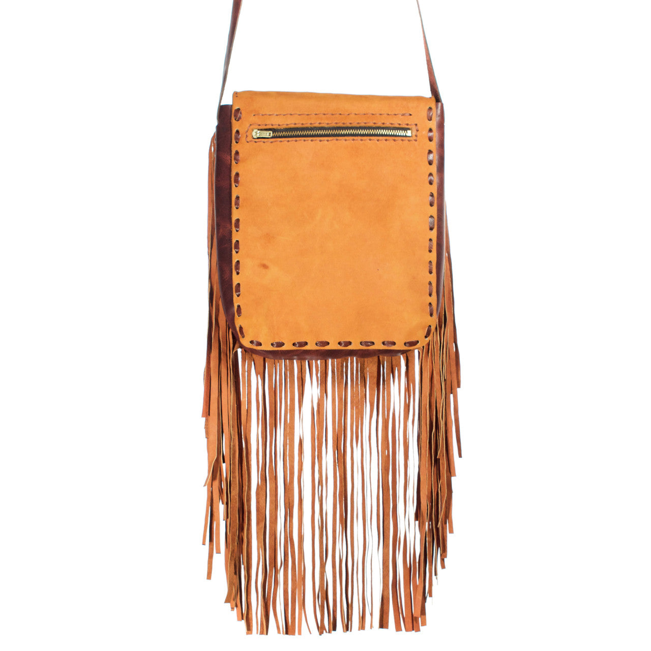 Chi Chi Fringe Bag - Tan 03  Shoulder Bag Pink Diamond - Cielo Collective handmade Mexico Guatemala
