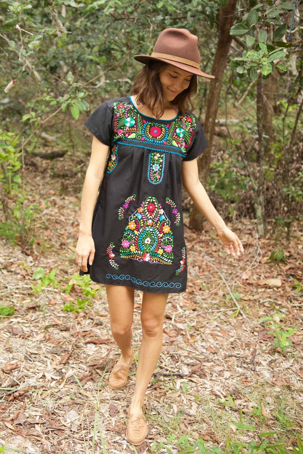 Bonita Summer Dress  Dress Black - Cielo Collective handmade Mexico Guatemala