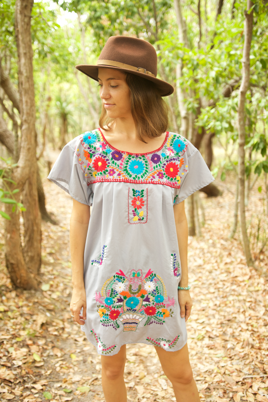 Bonita Summer Dress  Dress Grey - Cielo Collective handmade Mexico Guatemala