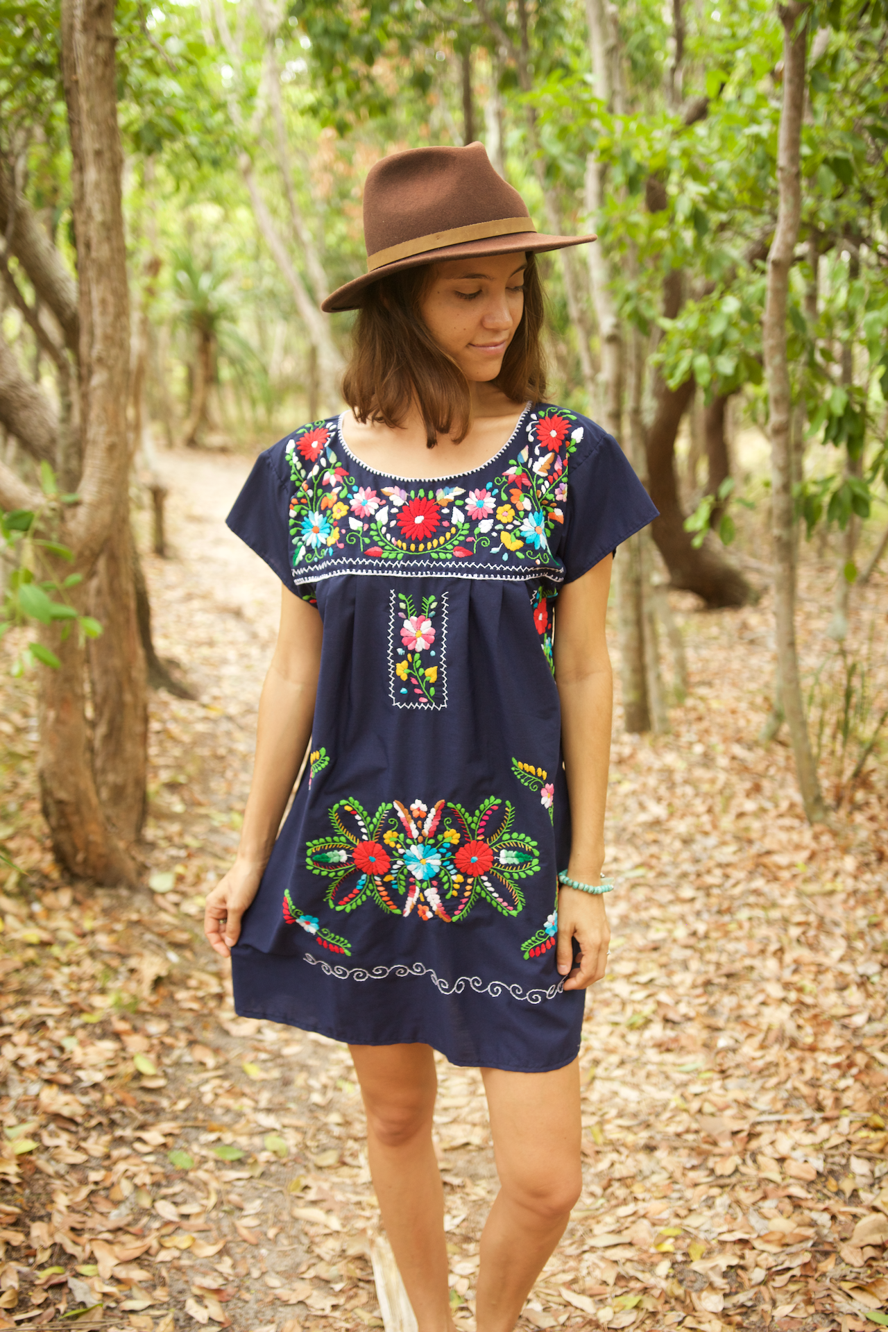 Bonita Summer Dress  Dress Navy - Cielo Collective handmade Mexico Guatemala
