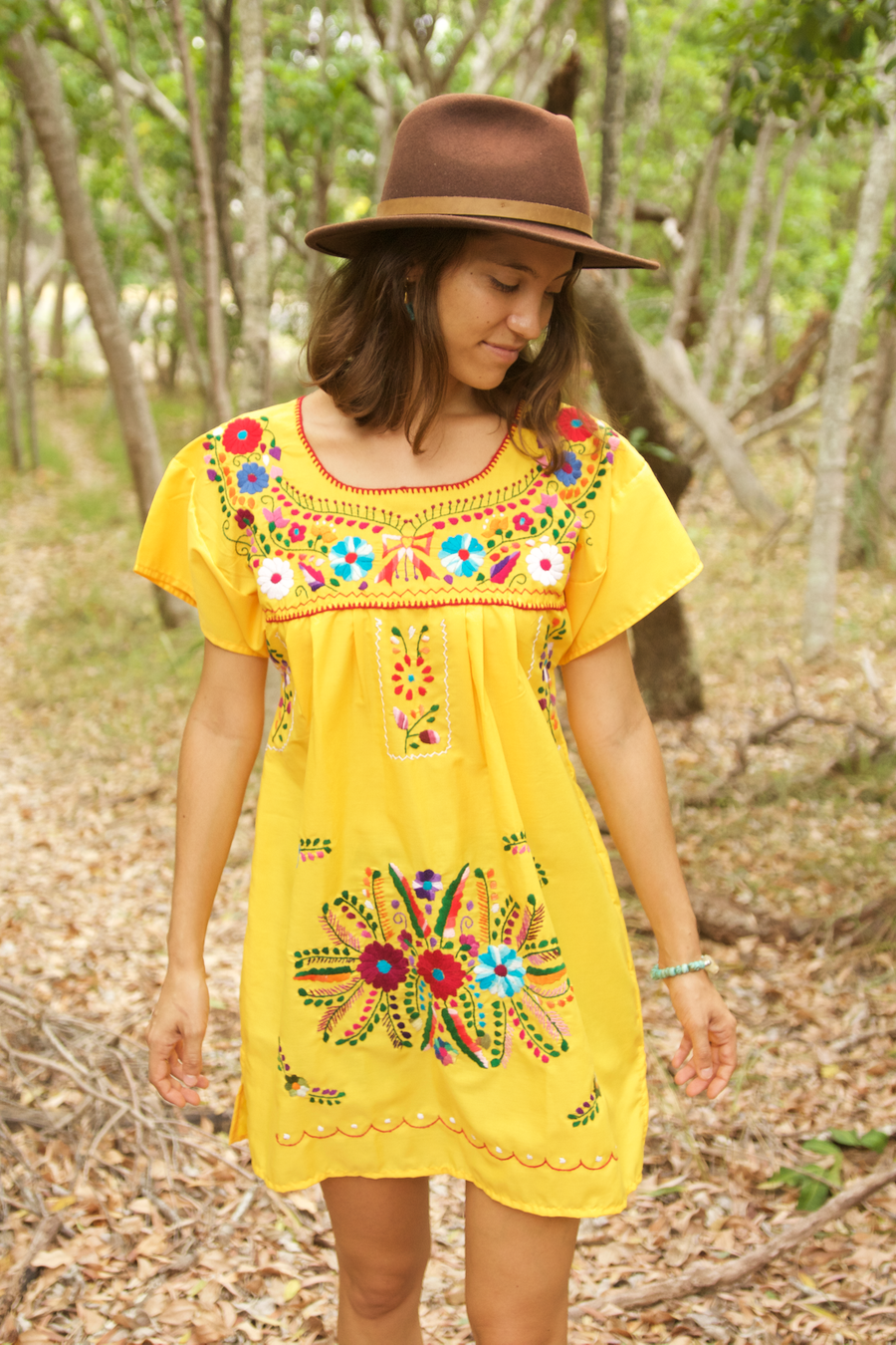 Bonita Summer Dress  Dress Yellow - Cielo Collective handmade Mexico Guatemala