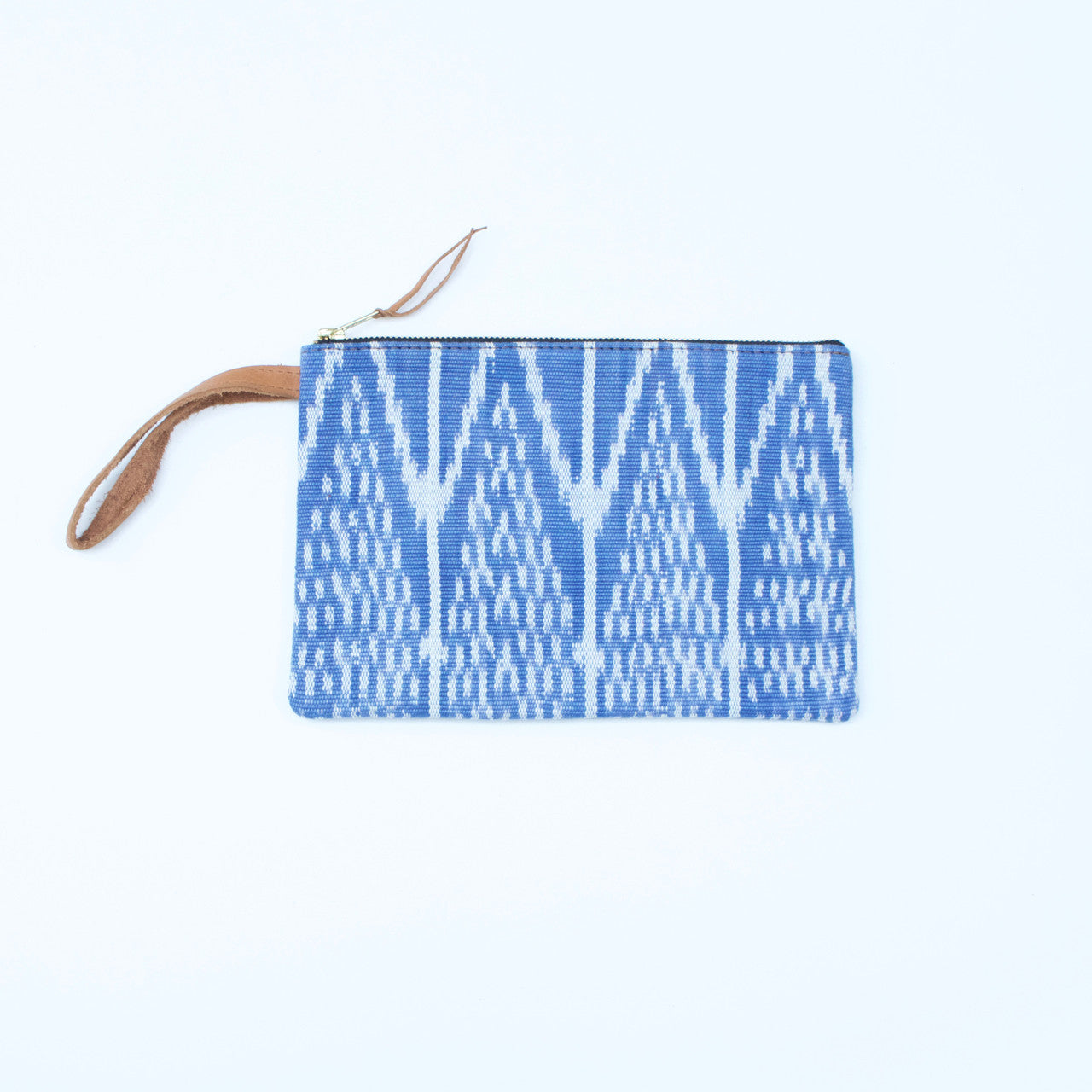 Ikat Clutch  Clutch Pale Blue - Cielo Collective handmade Mexico Guatemala