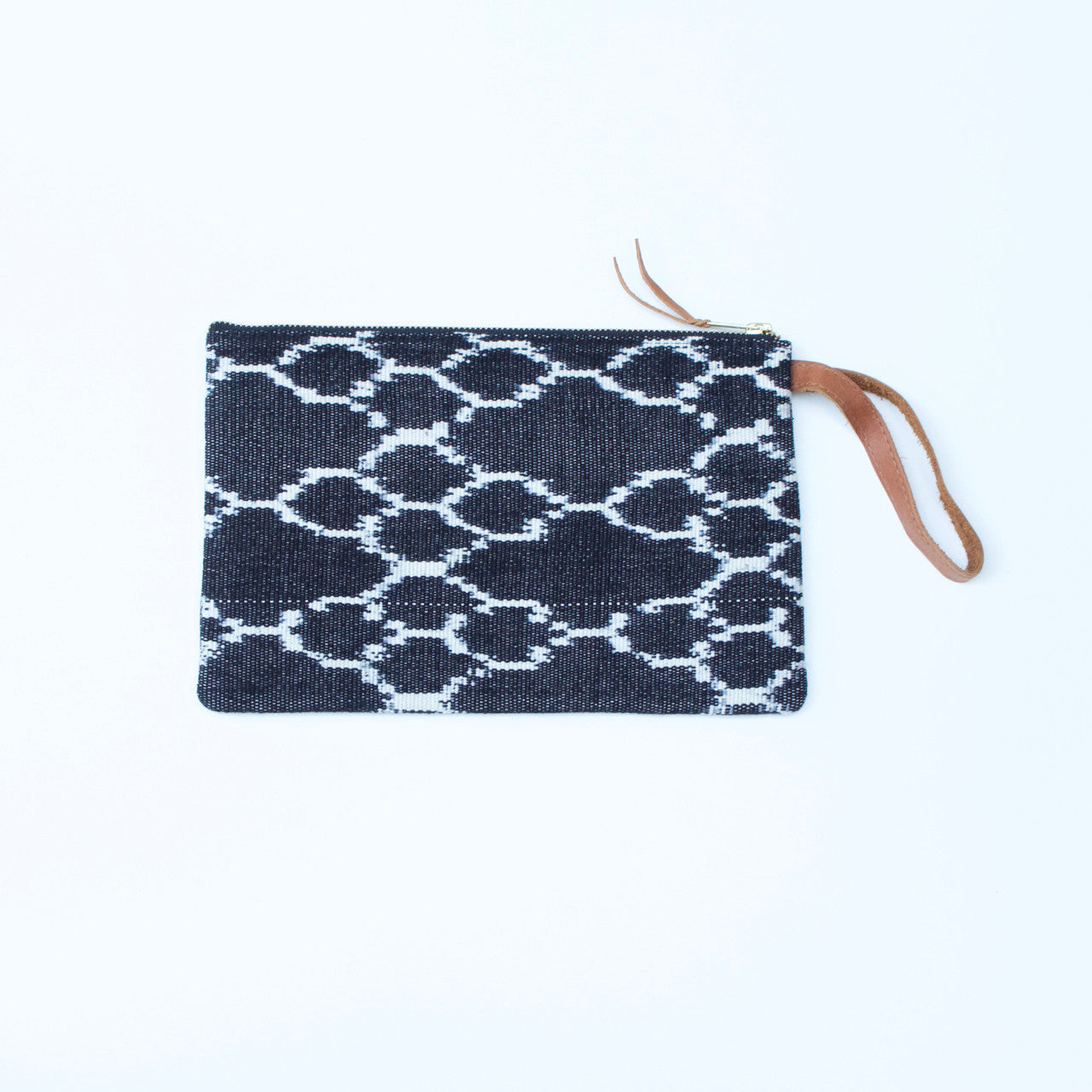 Ikat Clutch  Clutch Grey - Cielo Collective handmade Mexico Guatemala