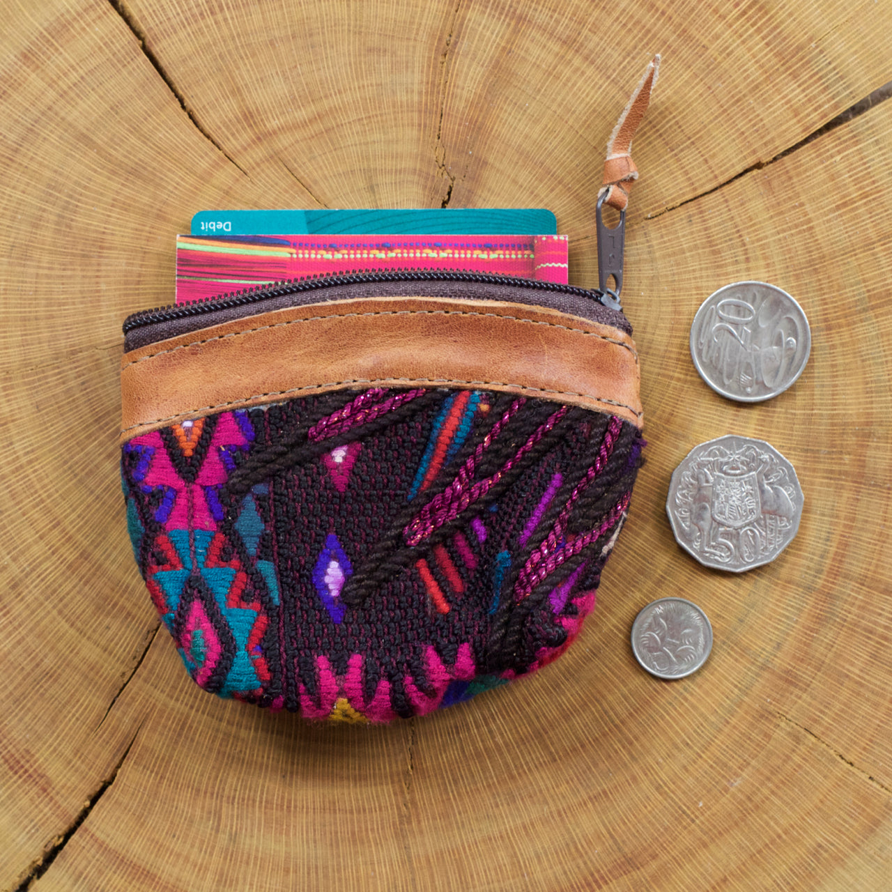 Pana Coin Pouch 27  Coin Pouch Purple - Cielo Collective handmade with tradition creativity and integrity