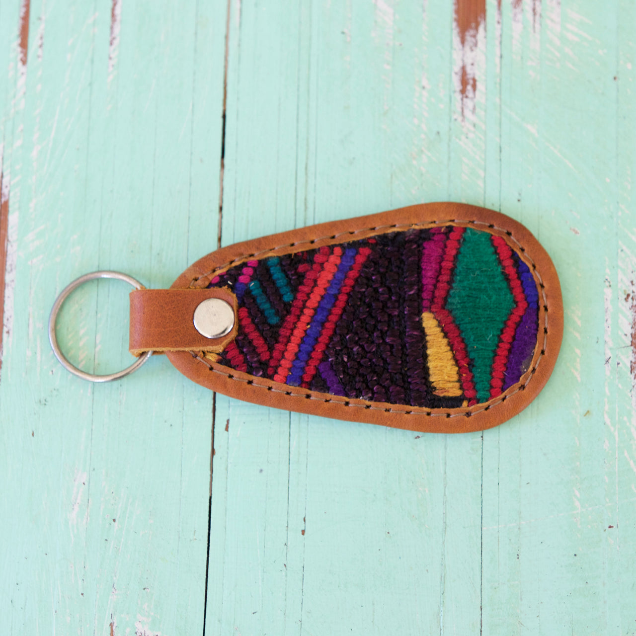 Cielo Key Ring 32  Key Ring Black - Cielo Collective handmade Mexico Guatemala