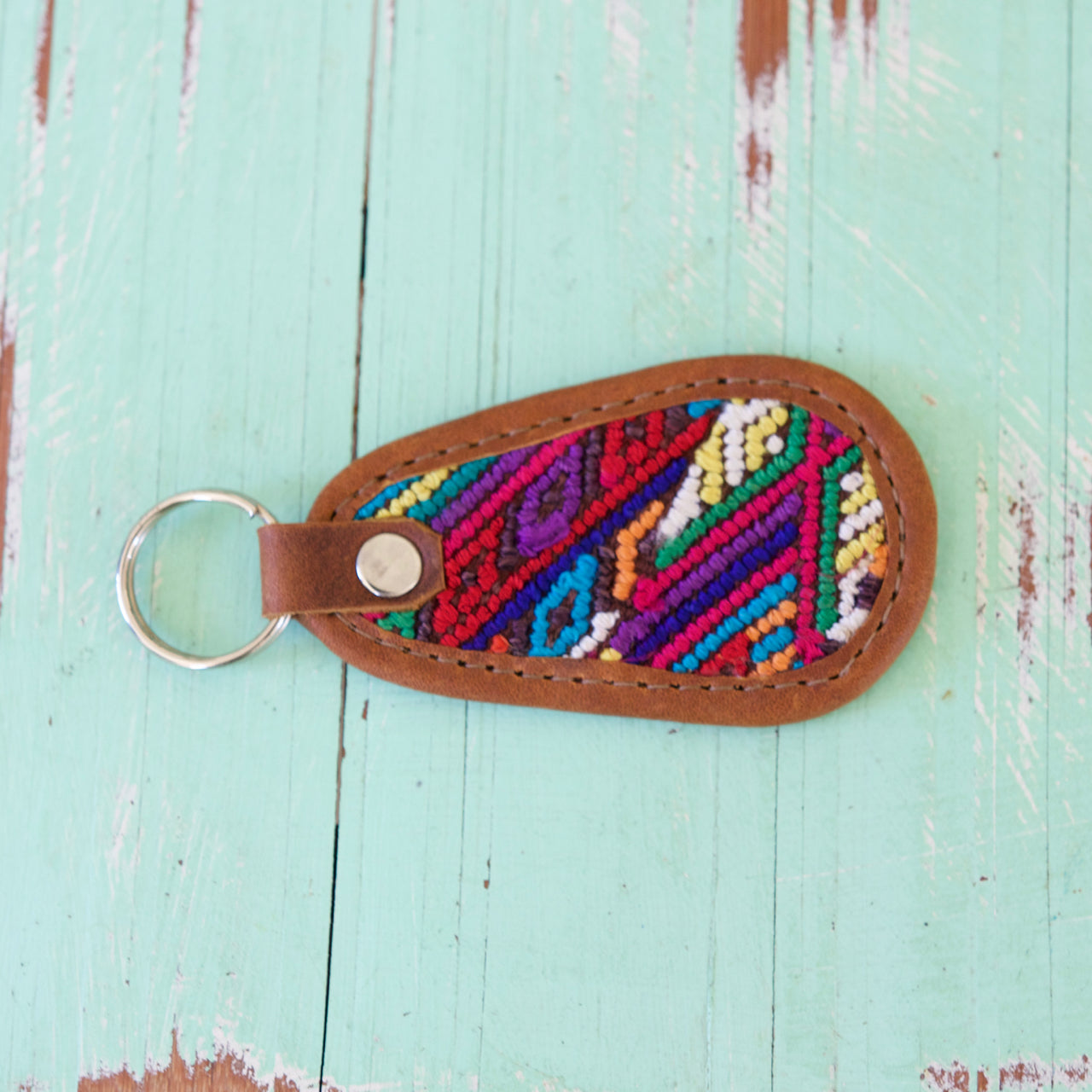 Cielo Key Ring 35  Key Ring Rainbow - Cielo Collective handmade Mexico Guatemala