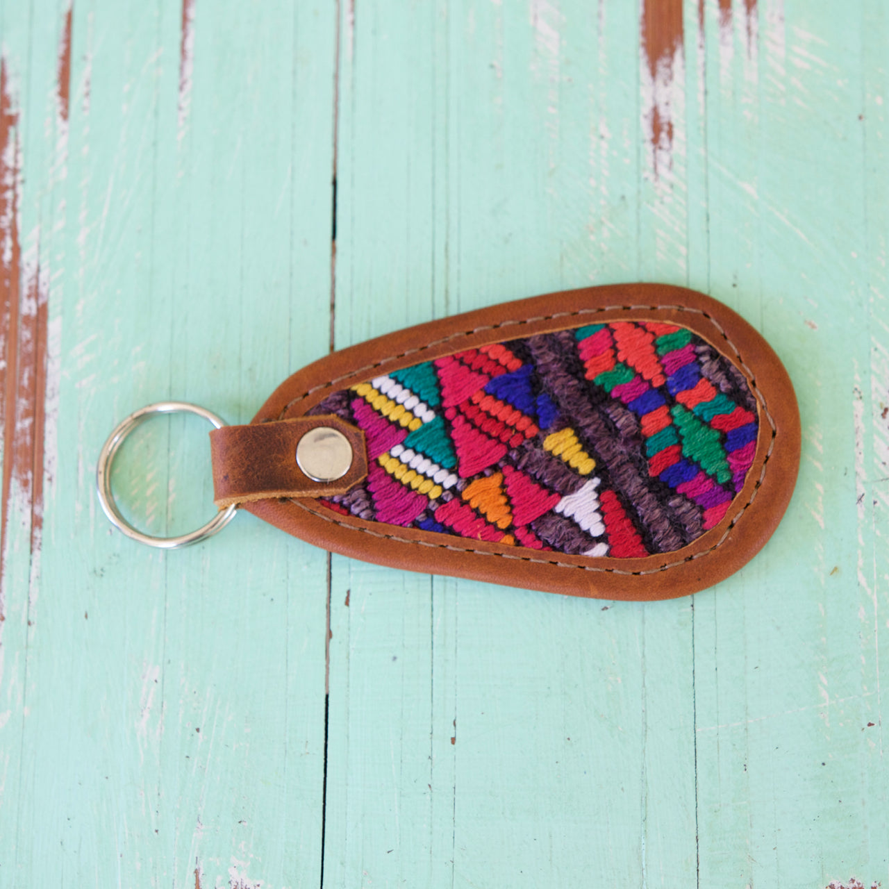 Cielo Key Ring 39  Key Ring Rainbow - Cielo Collective handmade Mexico Guatemala