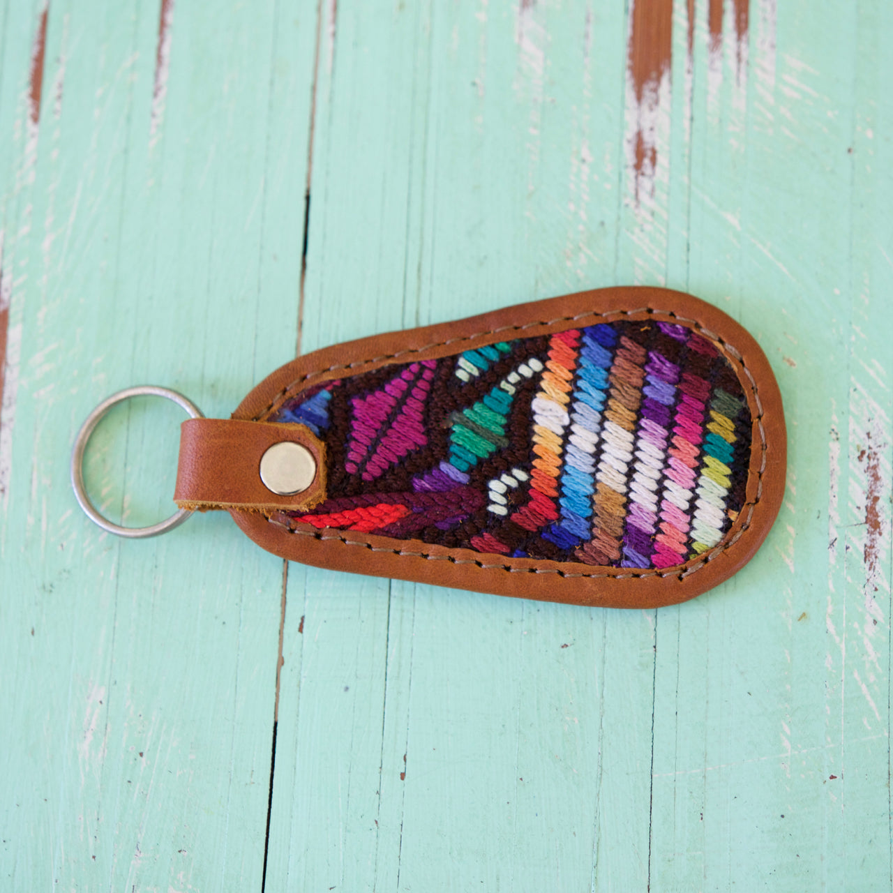 Cielo Key Ring 46  Key Ring Rainbow - Cielo Collective handmade Mexico Guatemala