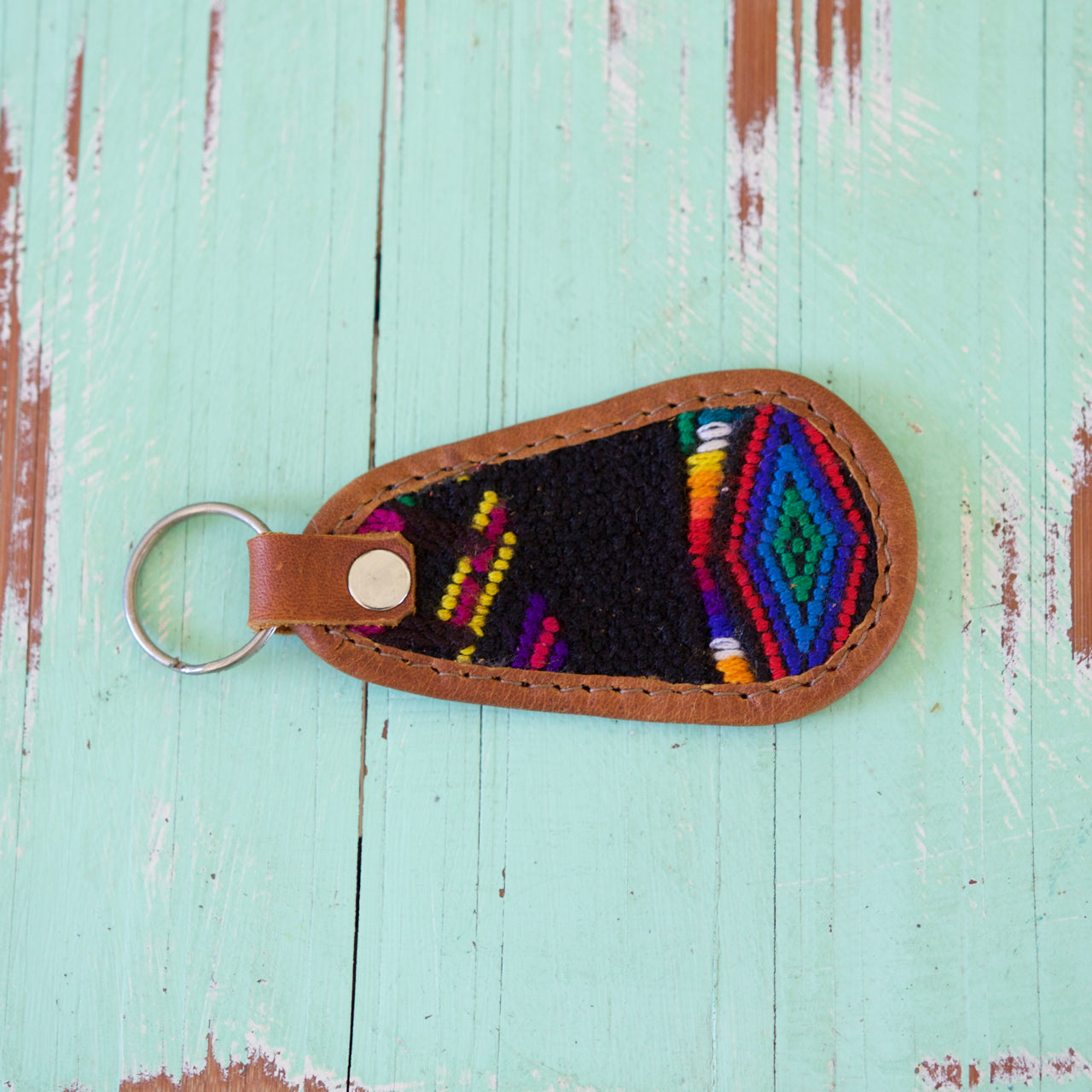 Cielo Key Ring 48  Key Ring Black - Cielo Collective handmade Mexico Guatemala