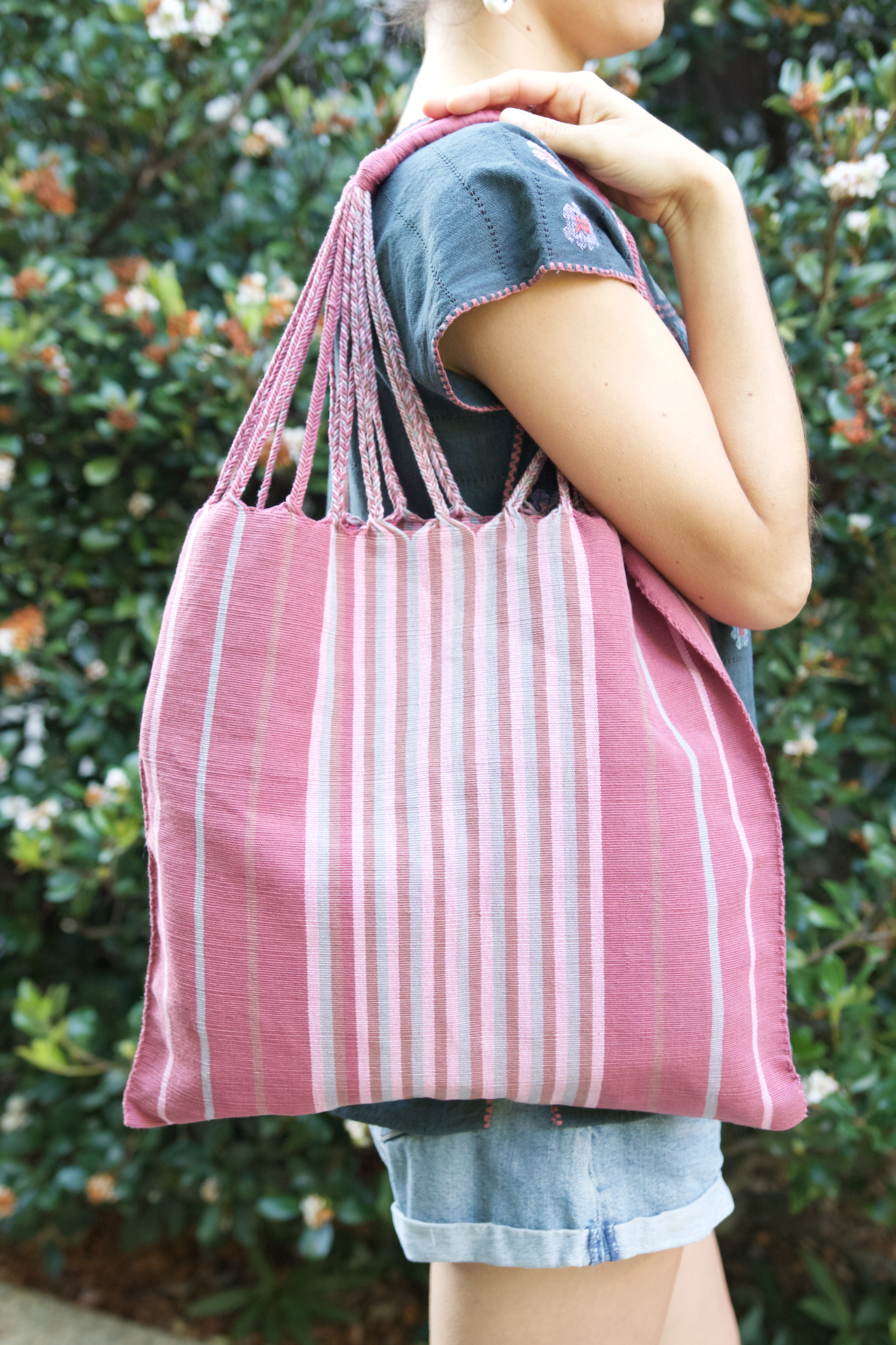 Raya Shoulder Bag  Shoulder Bag Pink - Cielo Collective handmade Mexico Guatemala