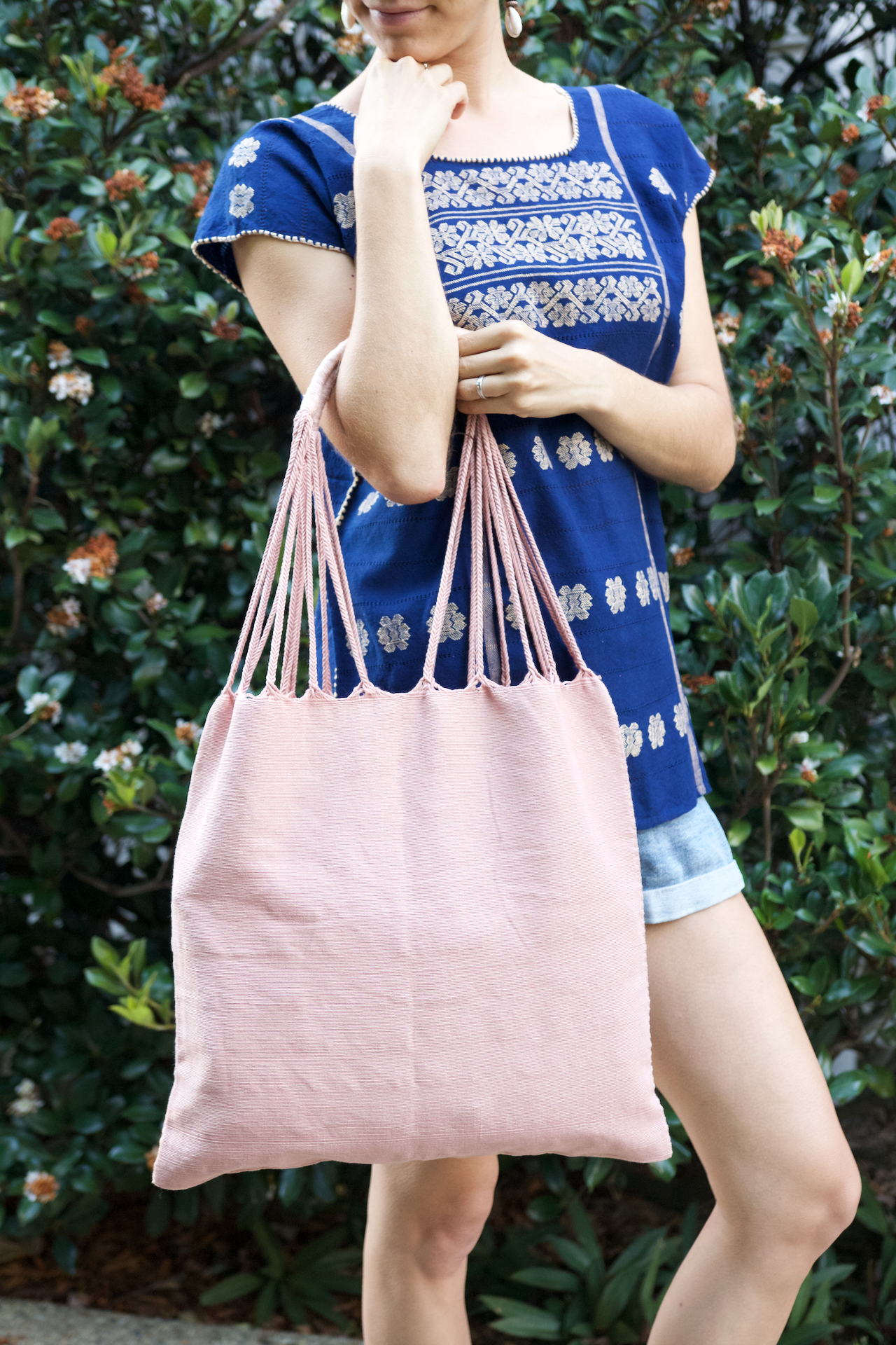 San Andres Shoulder Bag  Shoulder Bag Pink - Cielo Collective handmade Mexico Guatemala