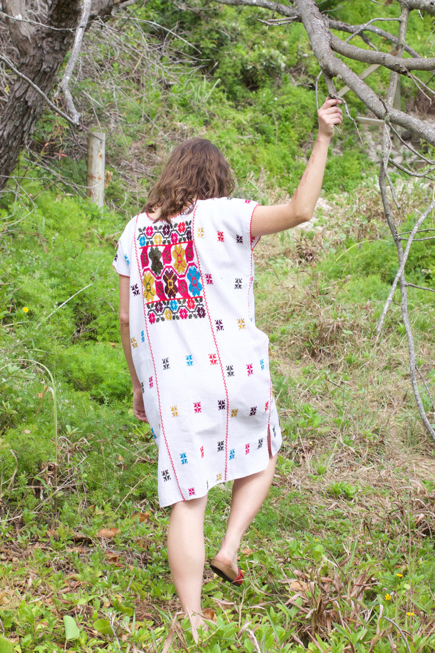 Costa Chica Dress  Dress Floral - Cielo Collective handmade Mexico Guatemala