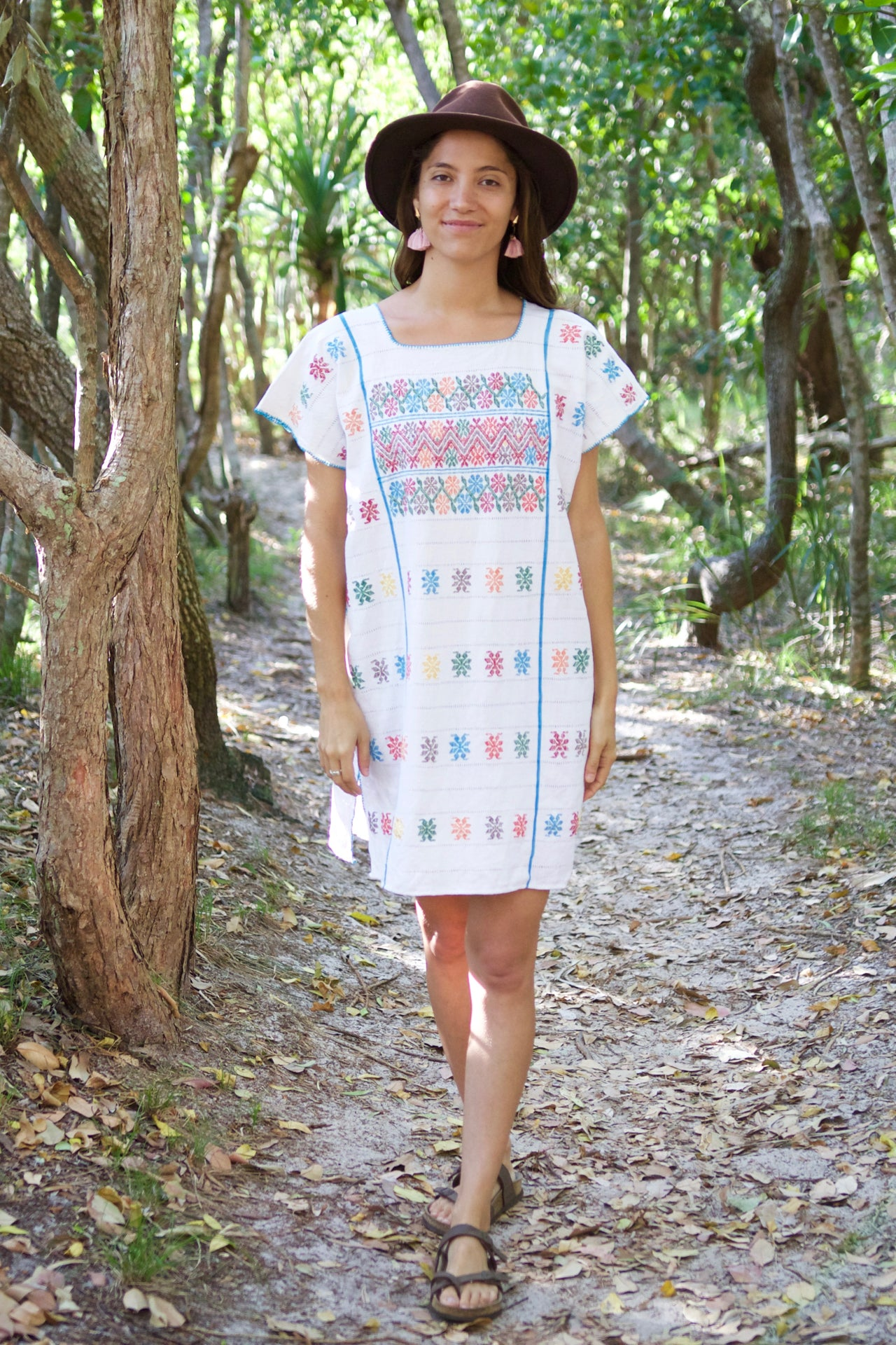 Costa Huipil Dress  Dress Red - Cielo Collective handmade Mexico Guatemala