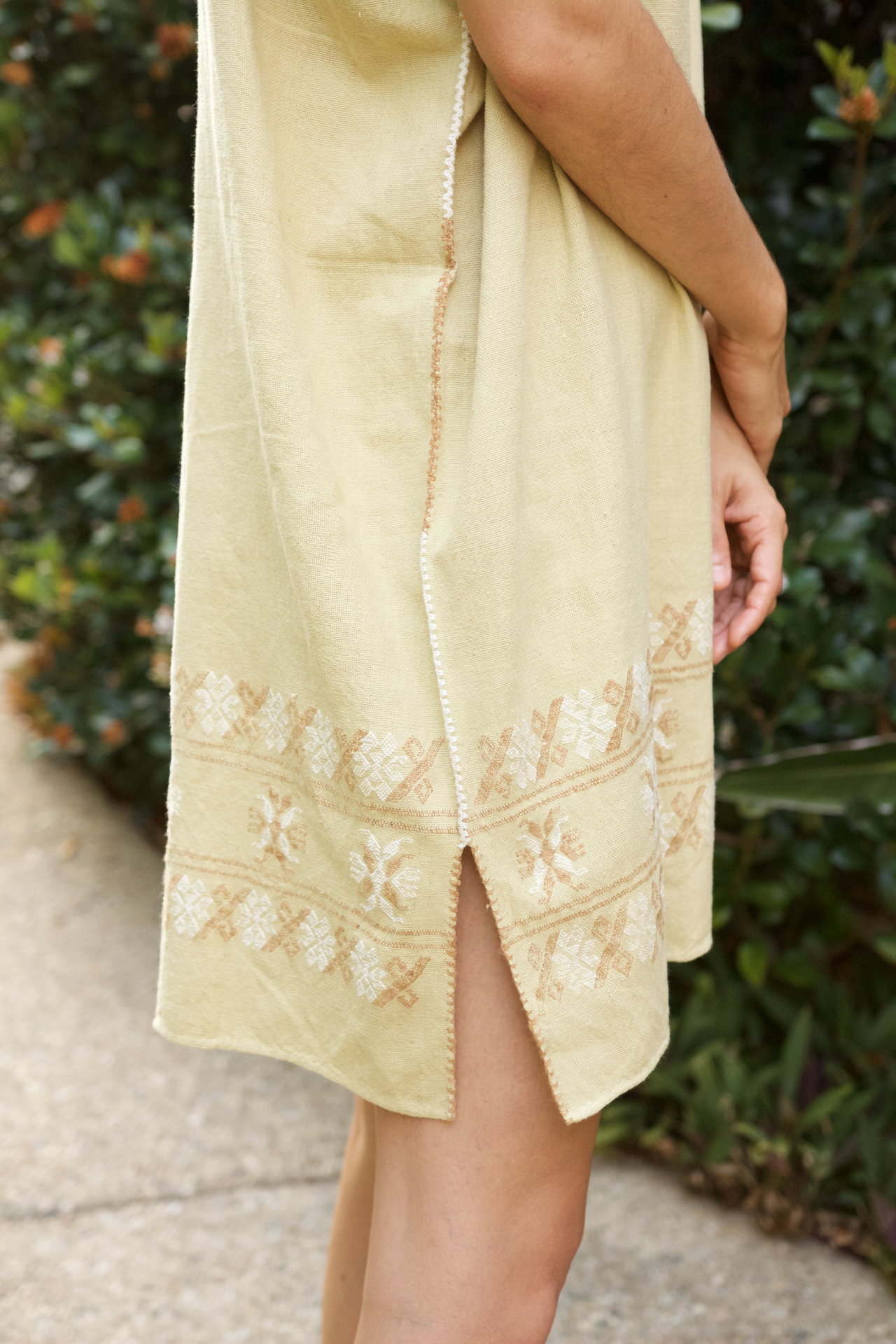 Costa Huipil  Dress Cream - Cielo Collective handmade Mexico Guatemala
