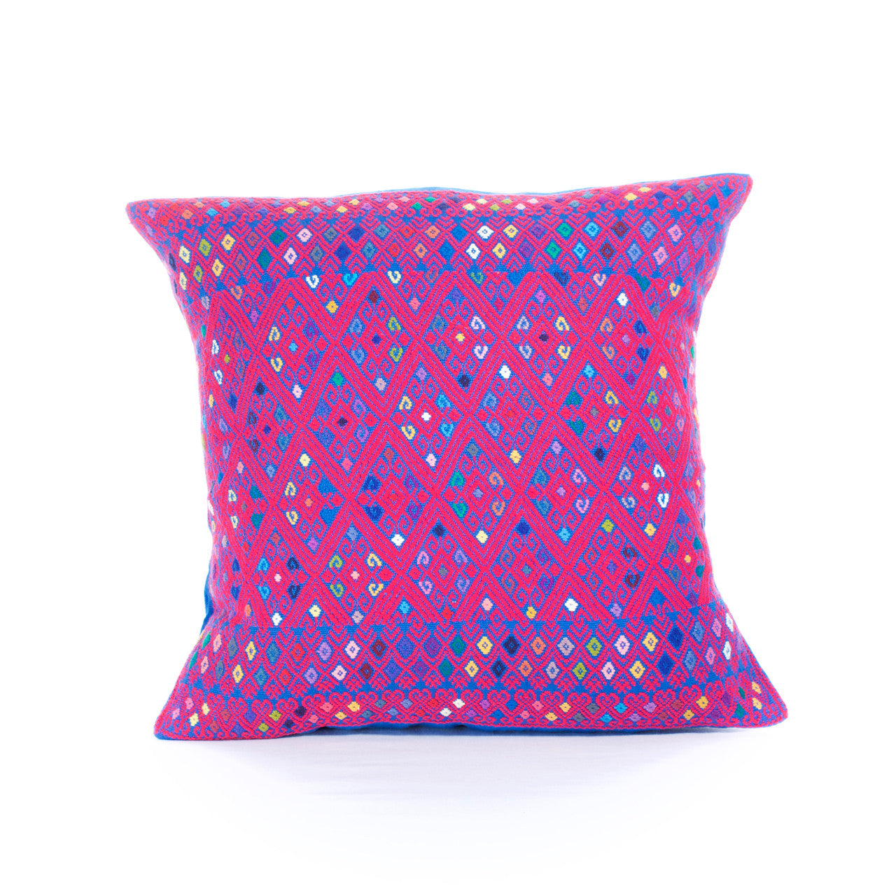Diamante Cushion 01  Cushion Pink - Cielo Collective handmade Mexico Guatemala