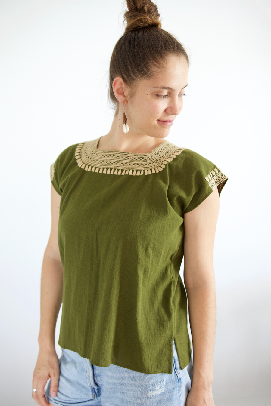 Dorada Blouse - Olive Green