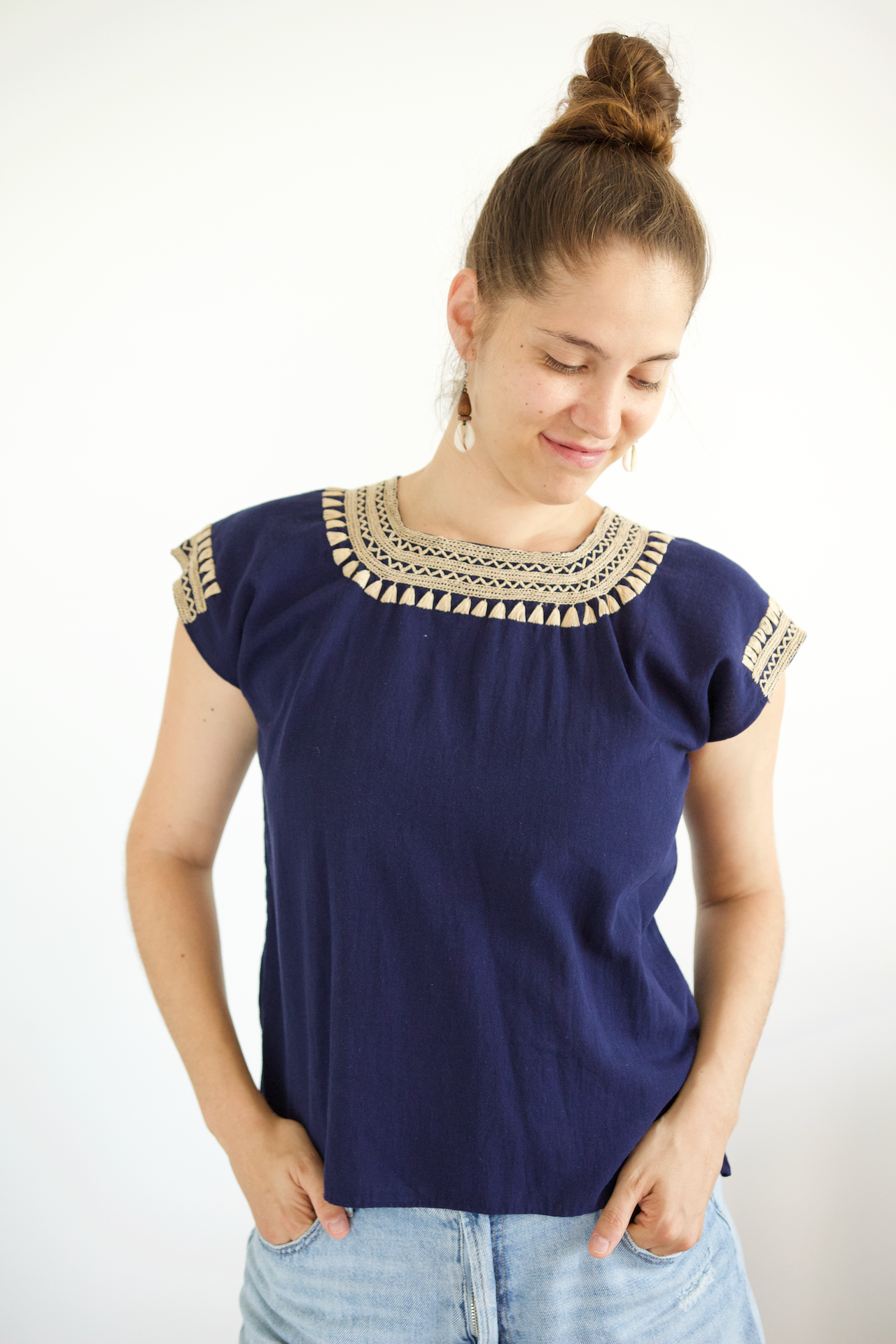 Dorada Blouse - Navy