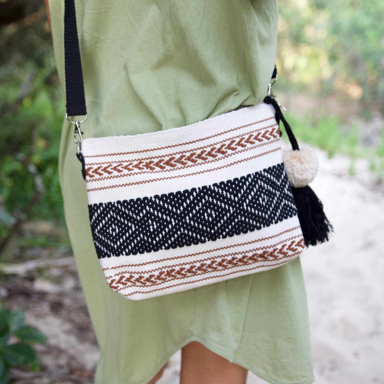 Evelia Bag  Shoulder Bag Natural - Cielo Collective handmade Mexico Guatemala