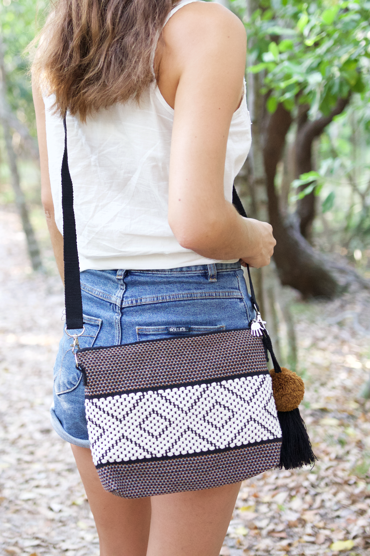 Evelia Bag - Brown  Shoulder Bag Brown - Cielo Collective handmade Mexico Guatemala