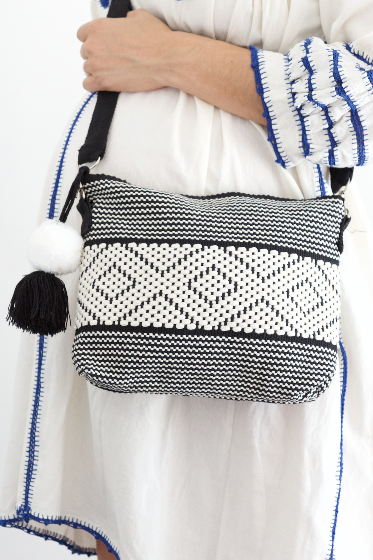 Evelia Bag - Black & White