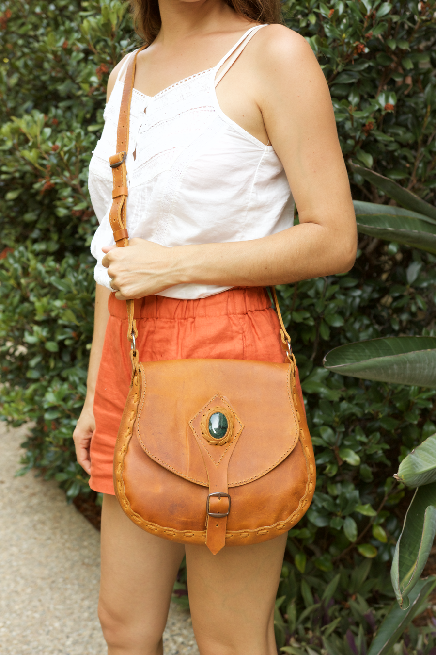 Jade Cross Body Bag  Shoulder Bag Tan - Cielo Collective handmade Mexico Guatemala