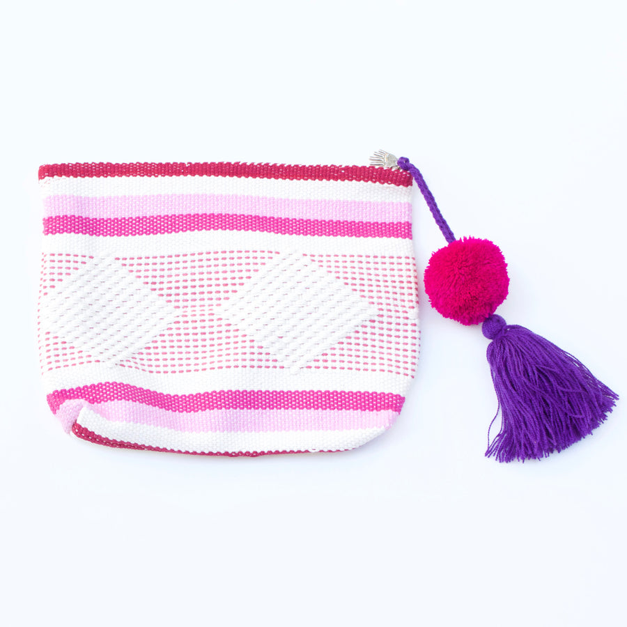 Jalieza Diamond Clutch 28  Clutch Rose - Cielo Collective handmade Mexico Guatemala