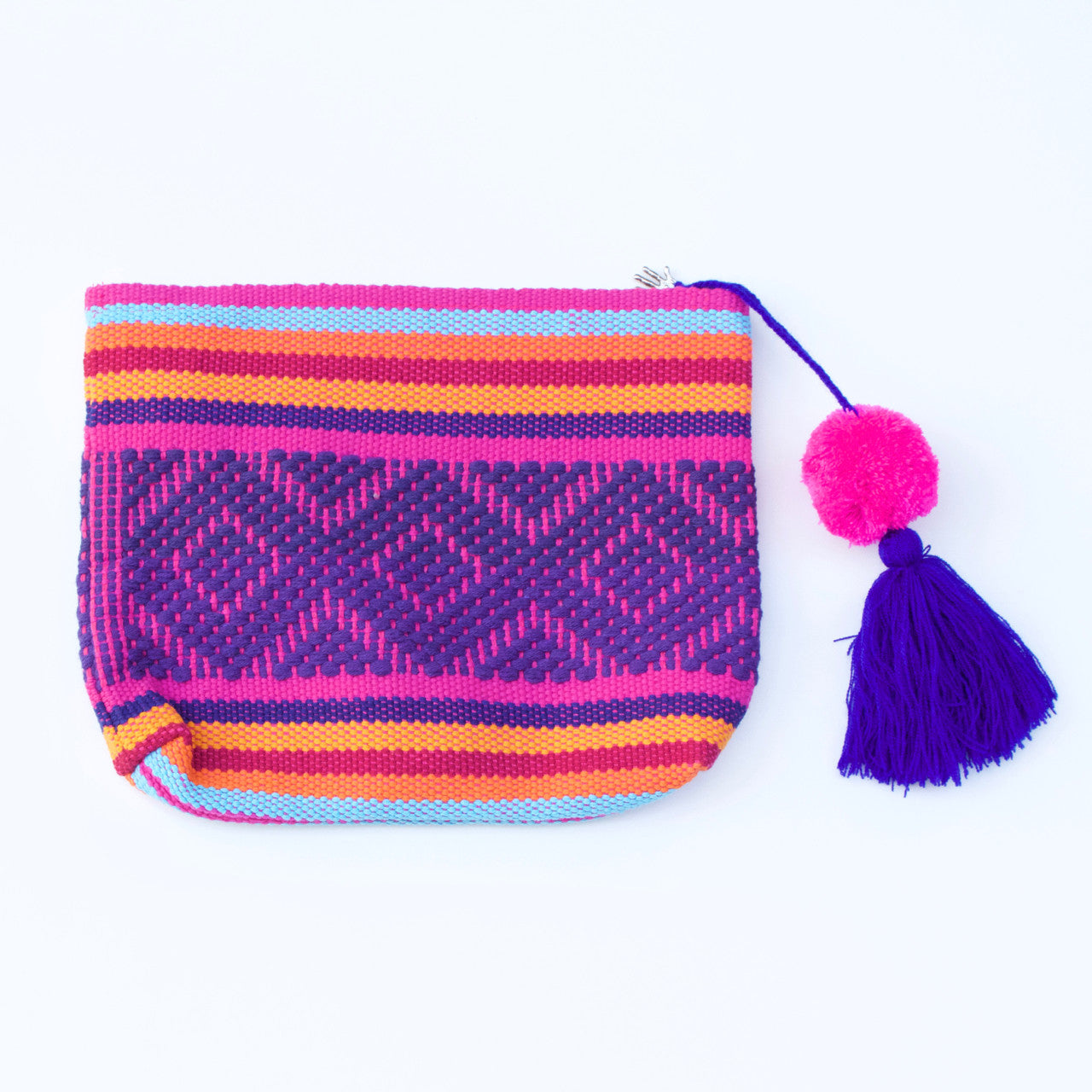 Jalieza Diamond Clutch 27  Clutch Rainbow - Cielo Collective handmade Mexico Guatemala