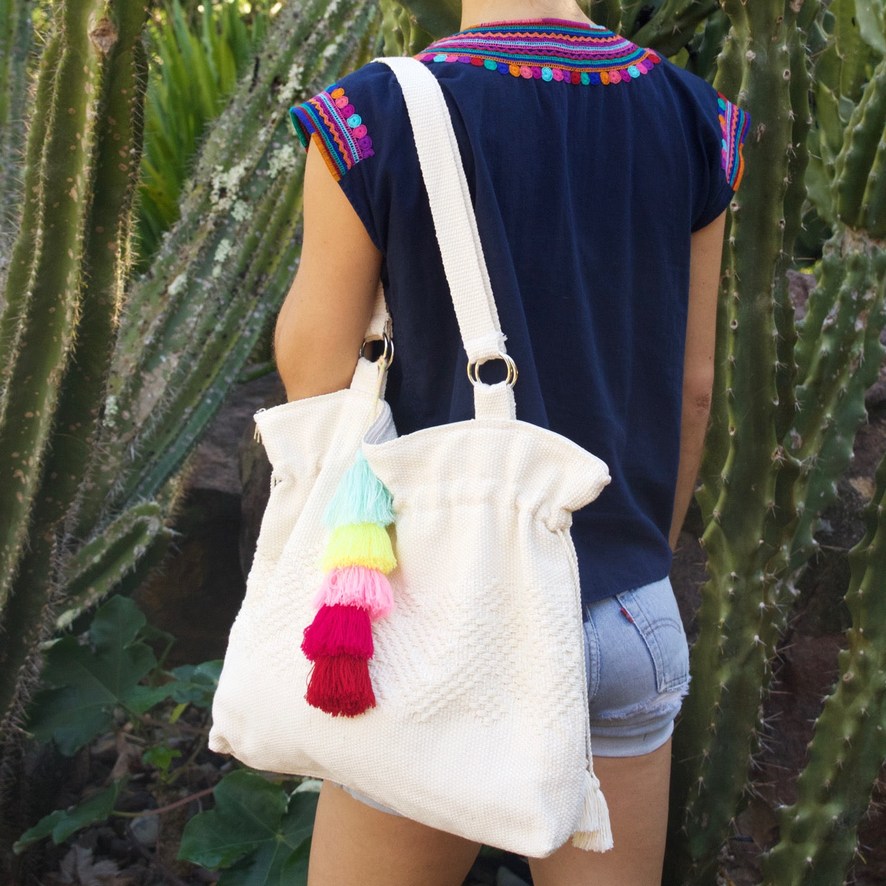 Jalieza Shoulder Bag  Shoulder Bag Natural - Cielo Collective handmade Mexico Guatemala