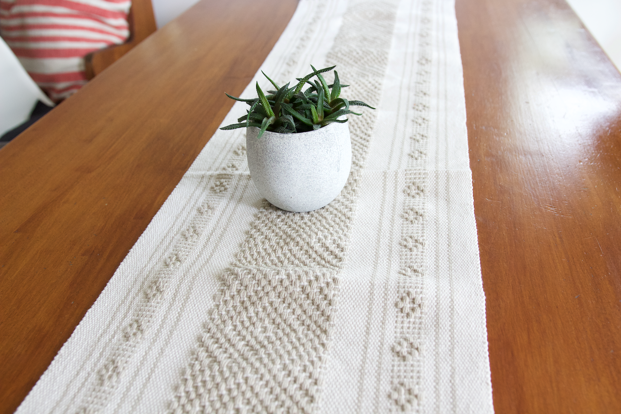 Jalieza Table Runner - Small  Table runners Natural - Cielo Collective handmade Mexico Guatemala