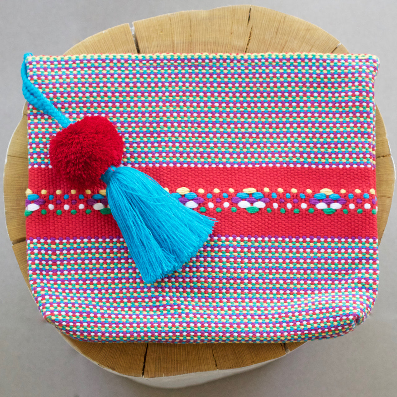 Jalieza Striped Clutch 11  Clutch Rainbow - Cielo Collective handmade Mexico Guatemala