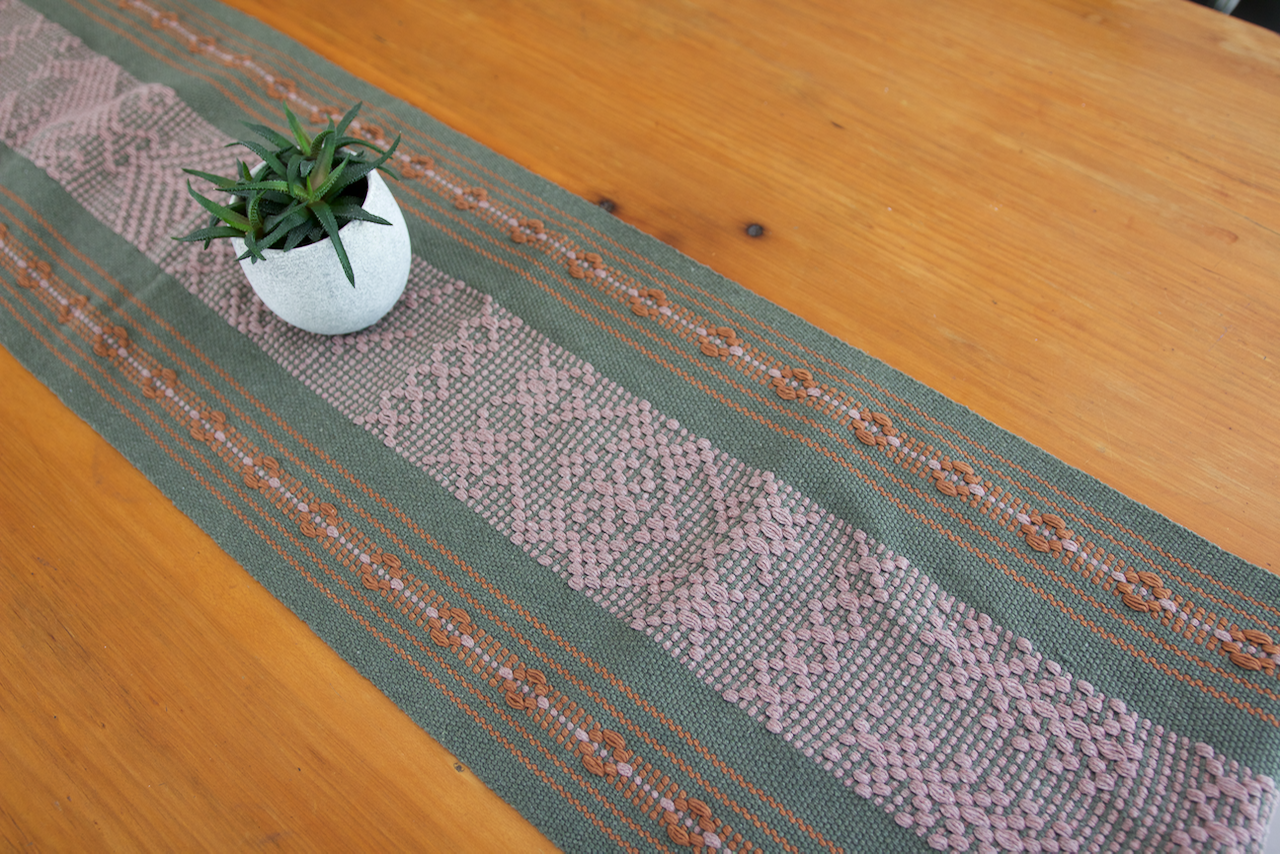 Jalieza Table Runner - Small  Table runners Sage - Cielo Collective handmade Mexico Guatemala