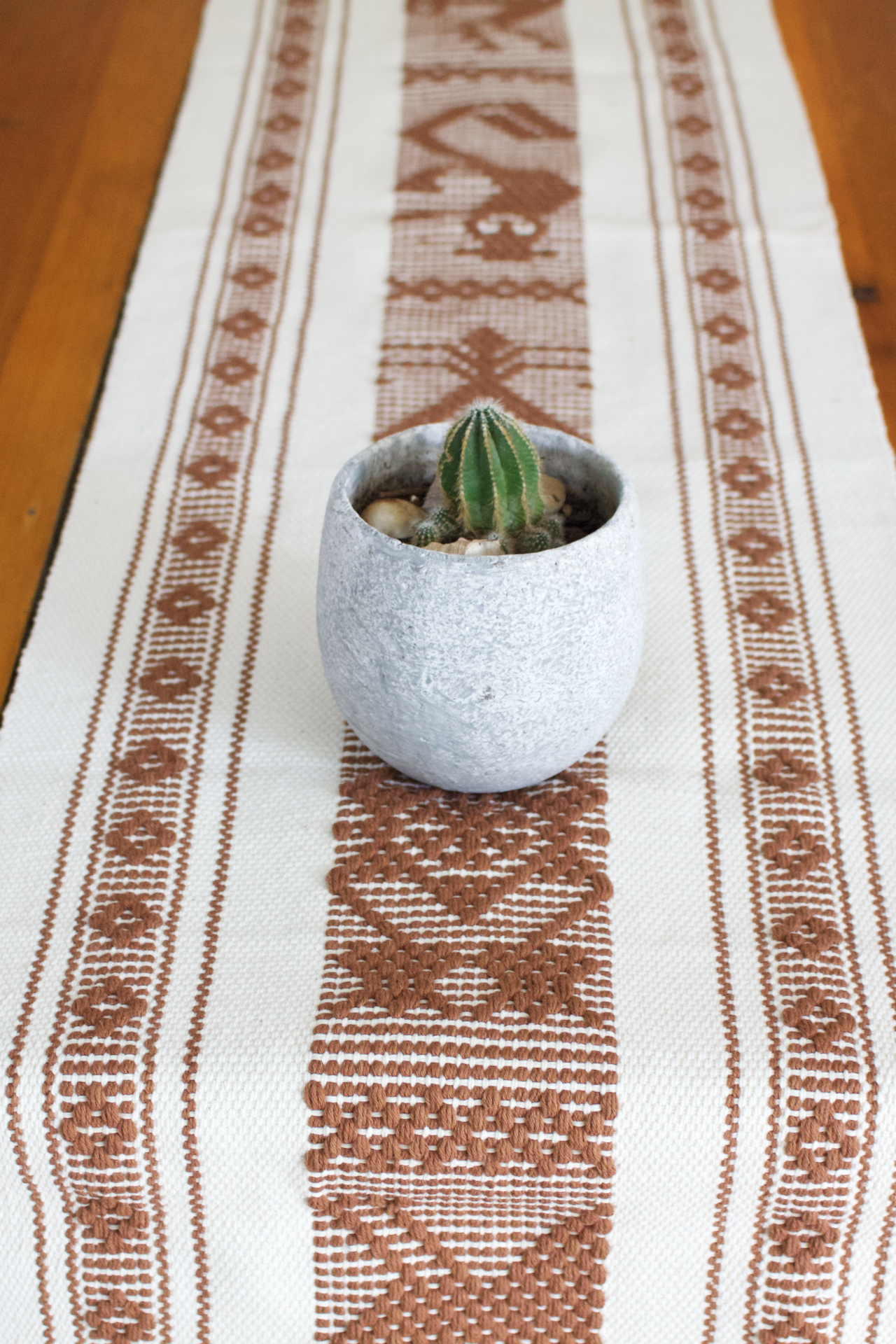 Jalieza Table Runner - Small  Table runners Natural & Tan - Cielo Collective handmade Mexico Guatemala