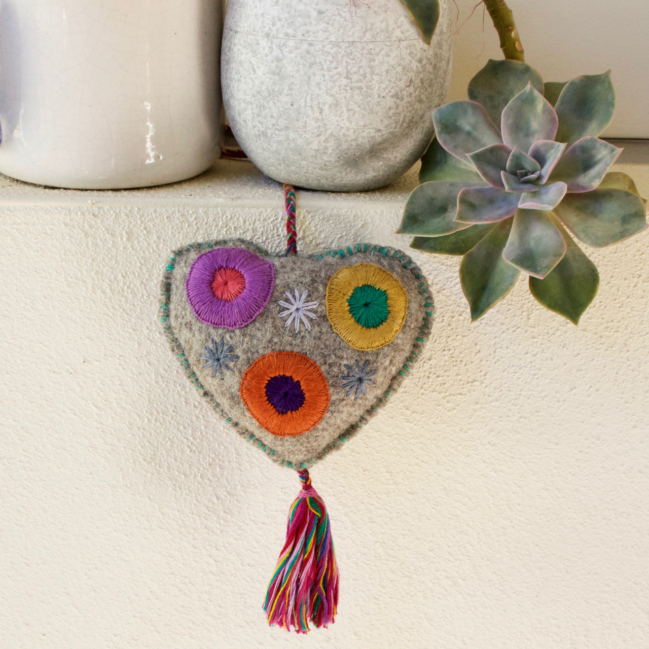 Lana Heart  Decor Wool - Cielo Collective handmade Mexico Guatemala