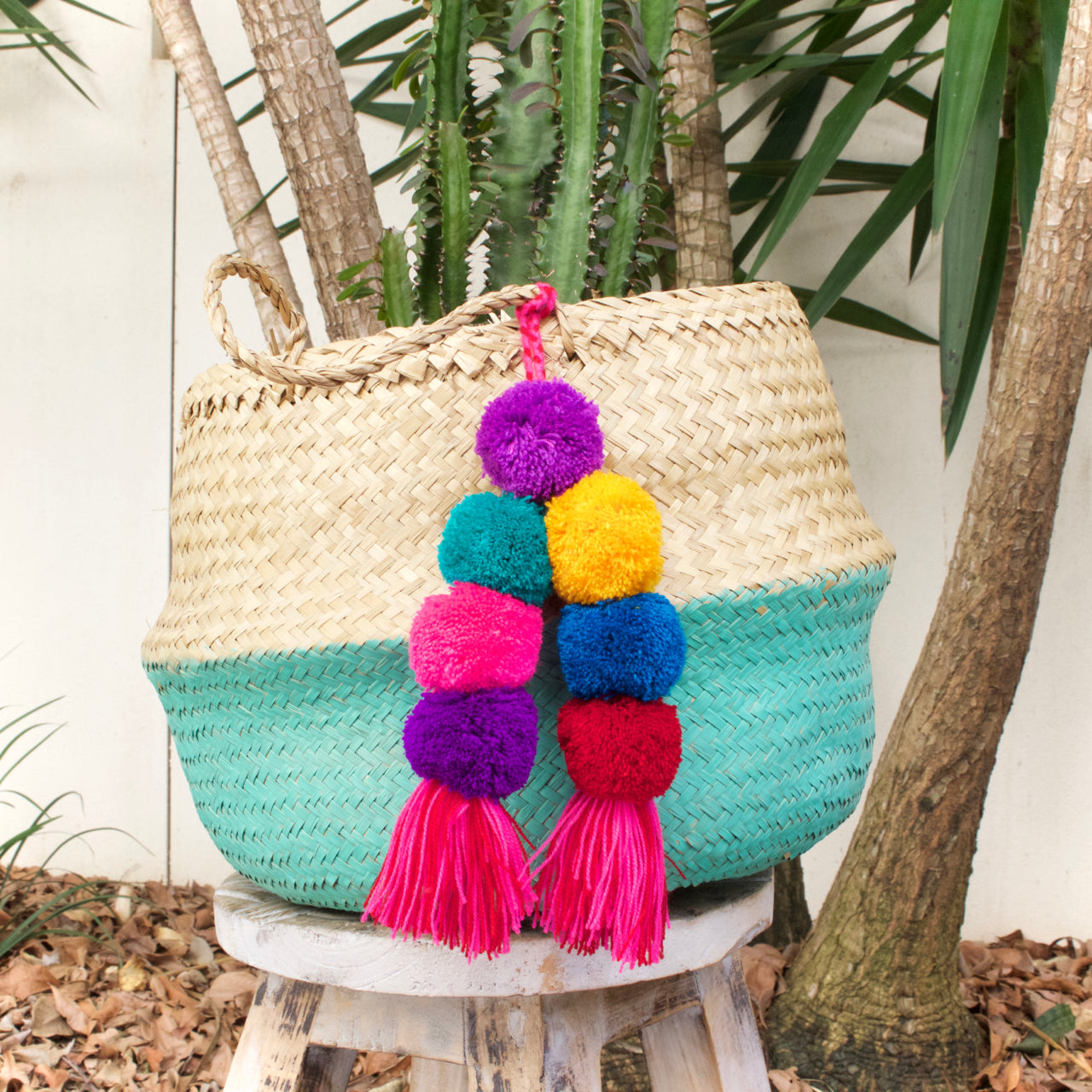Pom Pom Tassel 21  Decor Multicolour - Cielo Collective handmade with tradition creativity and integrity