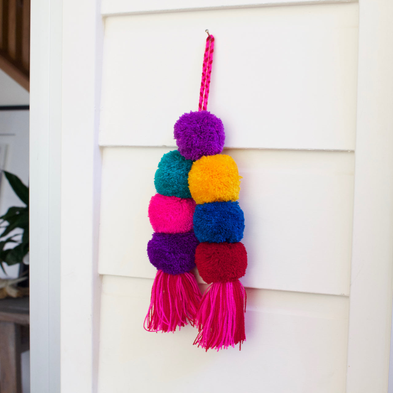 Pom Pom Tassel 21  Decor Multicolour - Cielo Collective handmade Mexico Guatemala