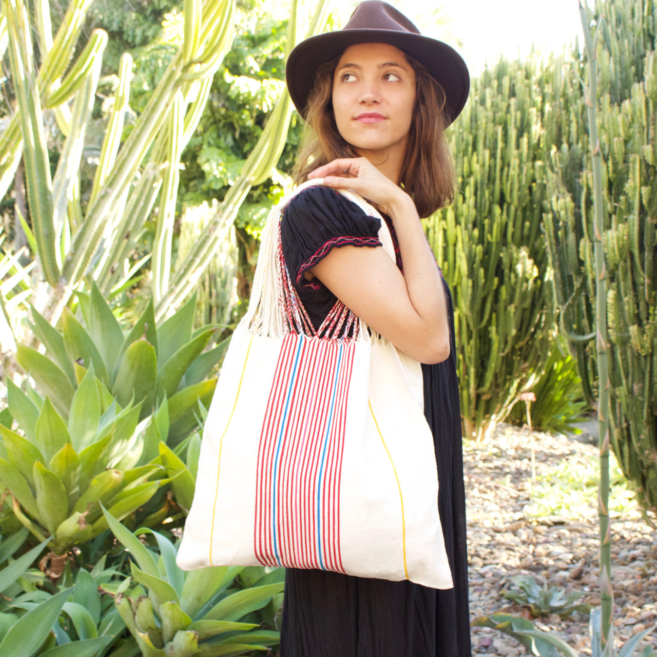 Raya Shoulder Bag  Shoulder Bag White - Cielo Collective handmade Mexico Guatemala