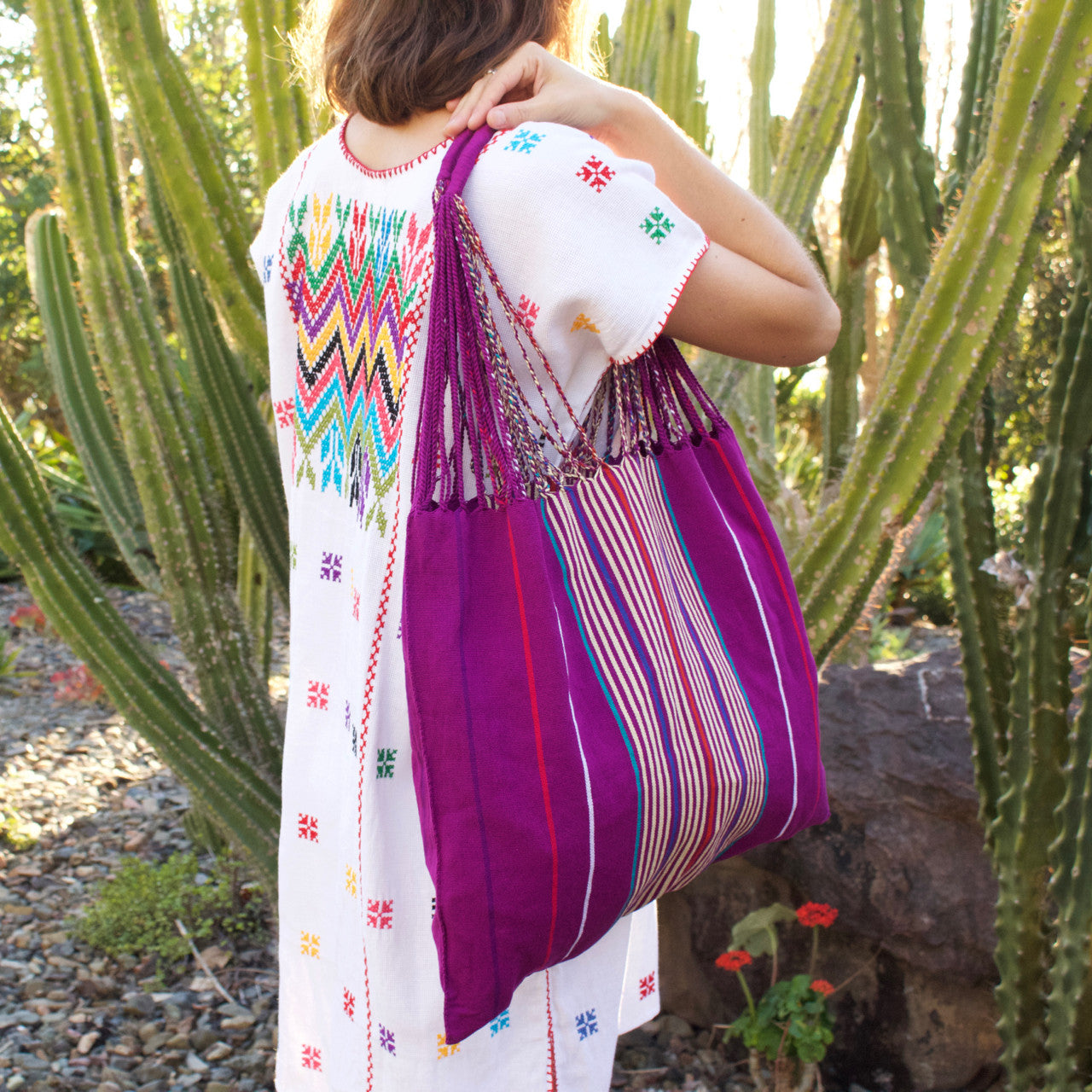 Raya Shoulder Bag  Shoulder Bag Orchid - Cielo Collective handmade Mexico Guatemala