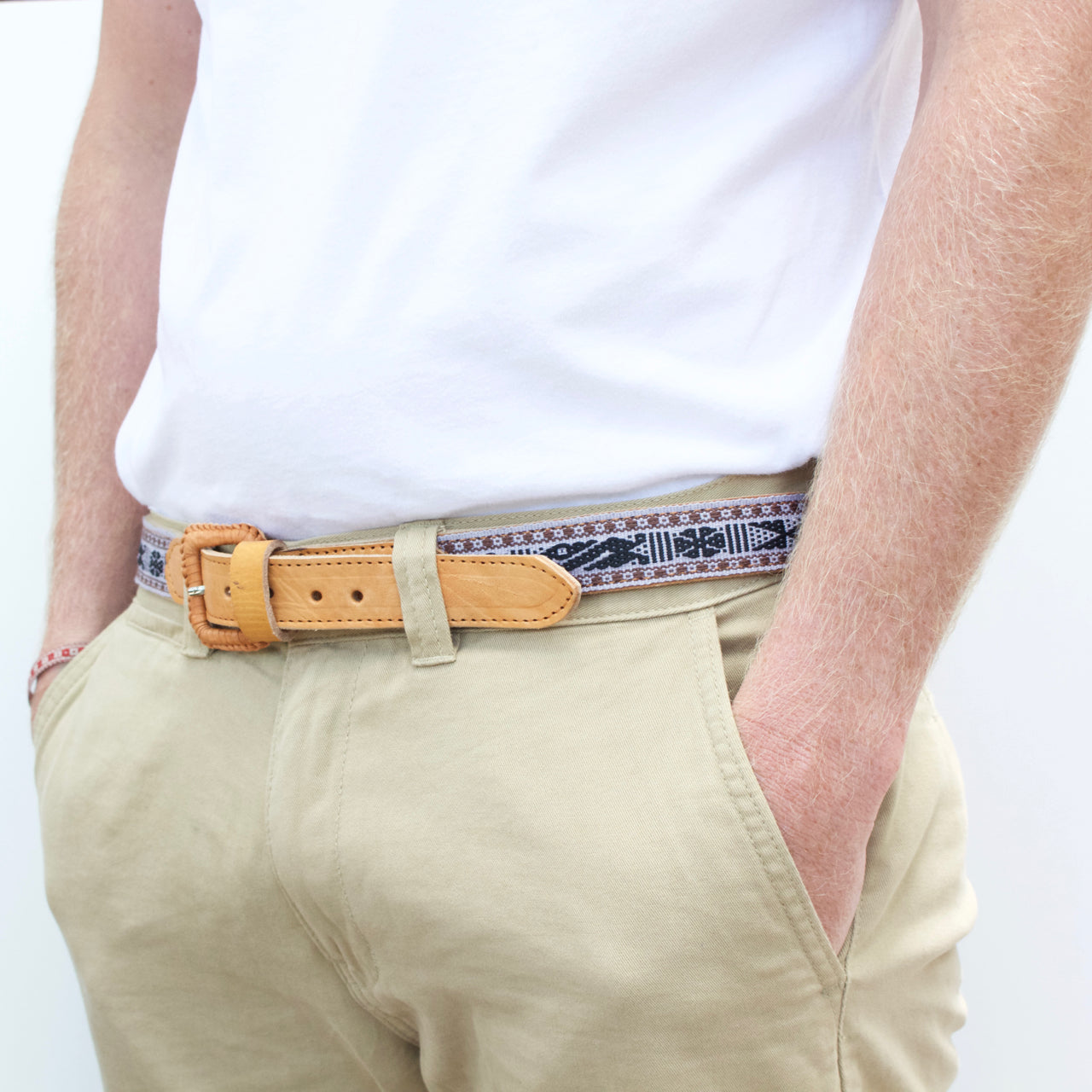 Santo Tomas Belt - Size 40 No. 01  Belt Grey - Cielo Collective handmade Mexico Guatemala