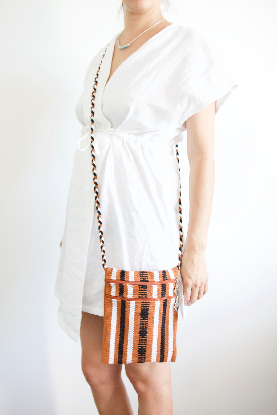 Santo Bag - Terracotta Stripe - Large