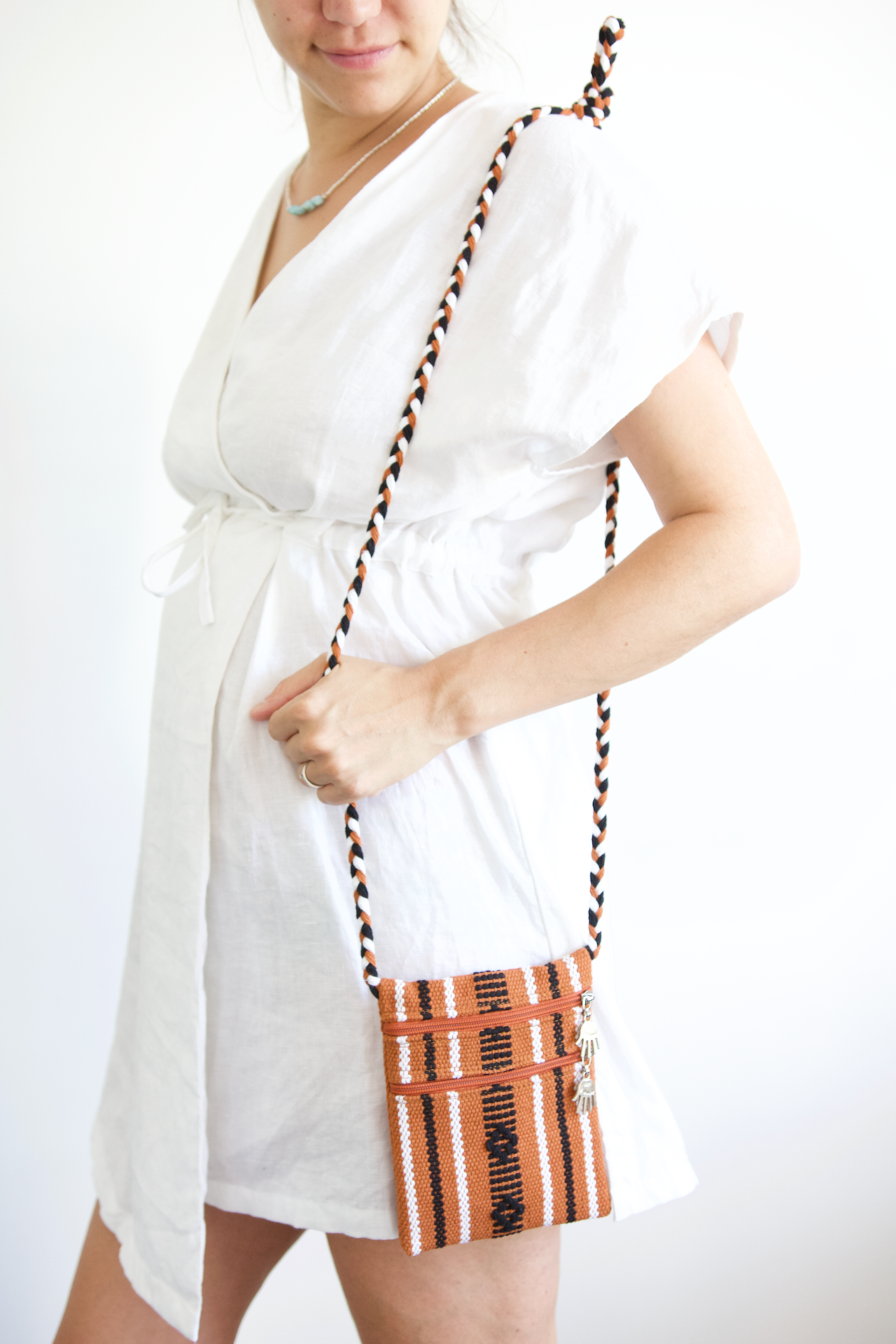 Santo Bag - Terracotta Stripe - Small