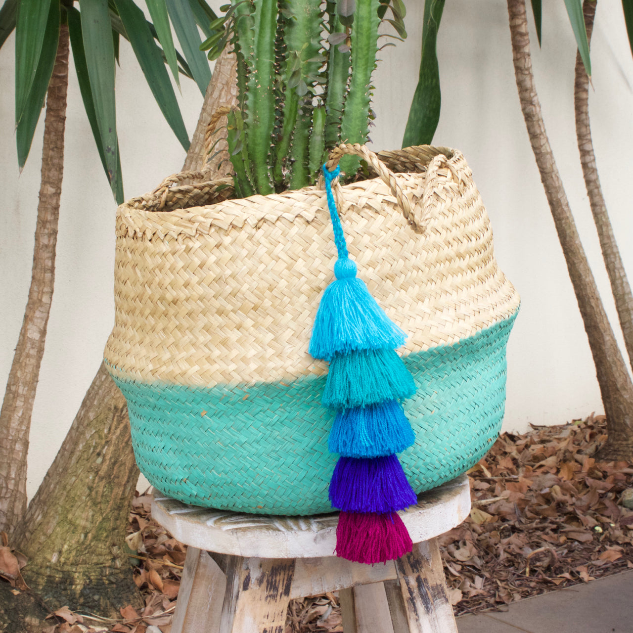 Tassel Strand 01  Decor Blue - Cielo Collective handmade Mexico Guatemala