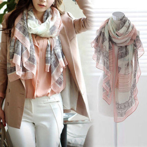 Elegant Fashion Women Long Print Cotton Polyester Scarf Wrap Shawl